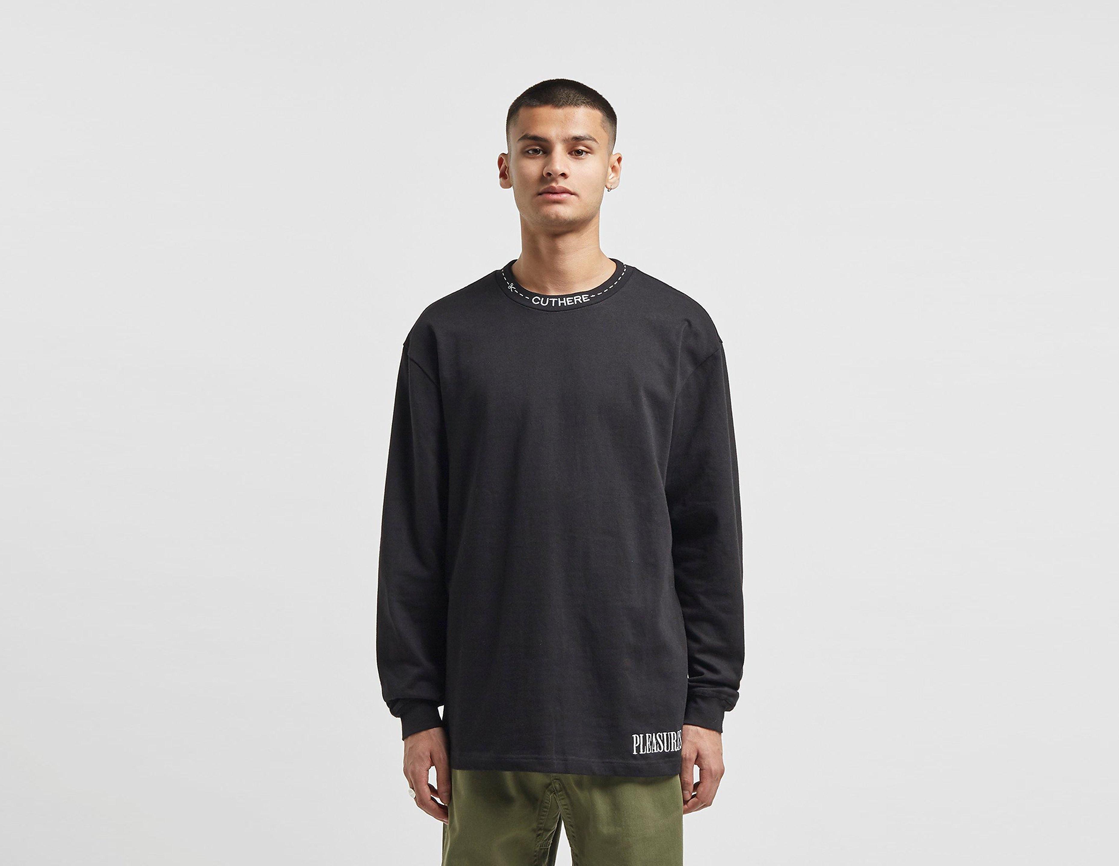 PLEASURES T-Shirt à Manches Longues Cut Here, Noir