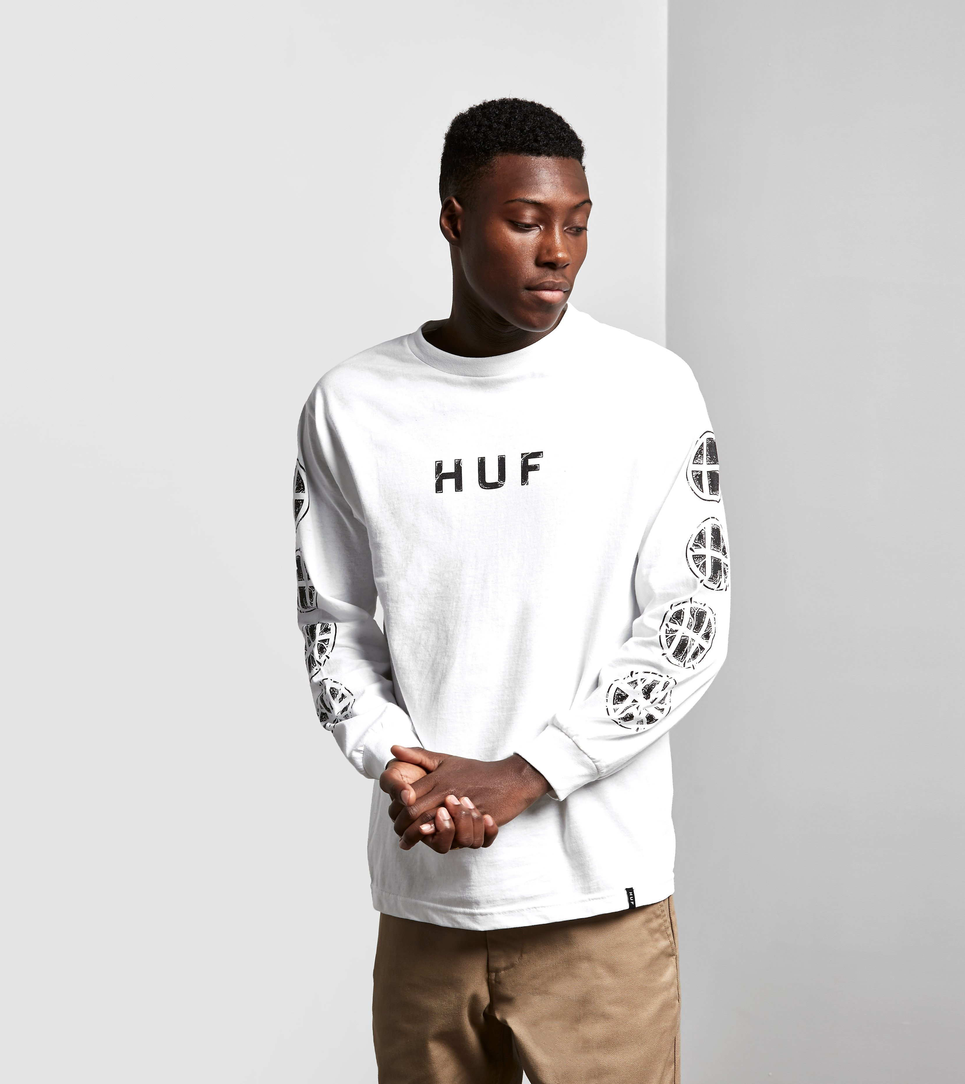 HUF Long-Sleeved Logo T-Shirt