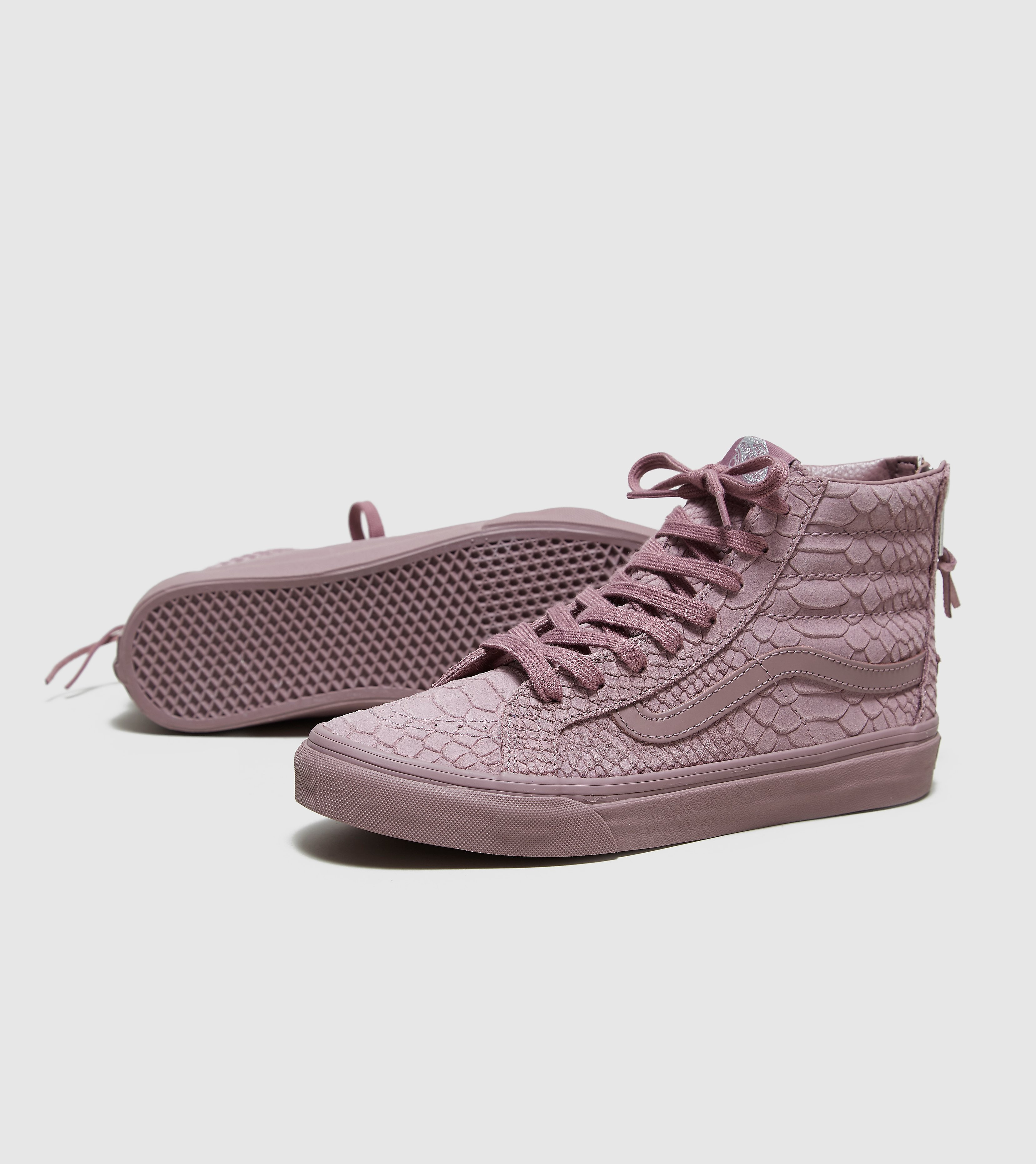 Vans Sk8-Hi Snakeskin Leather Zip Women's