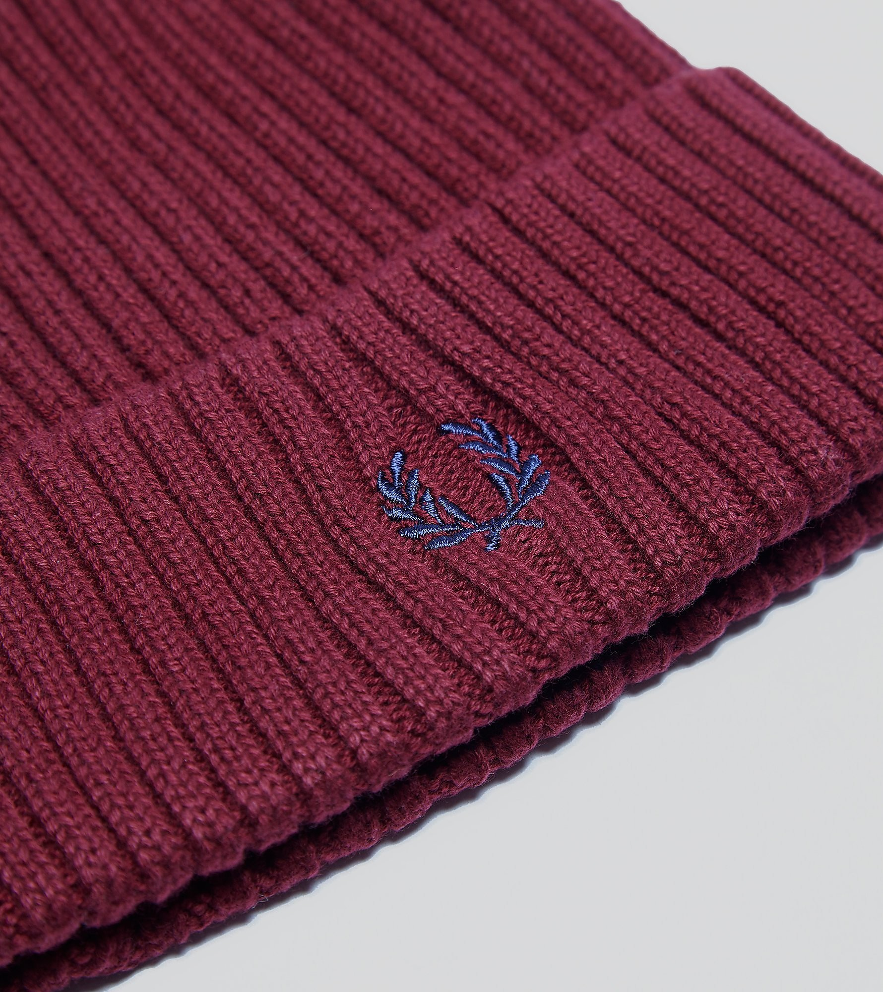 Fred Perry Cotton Ribbed Beanie