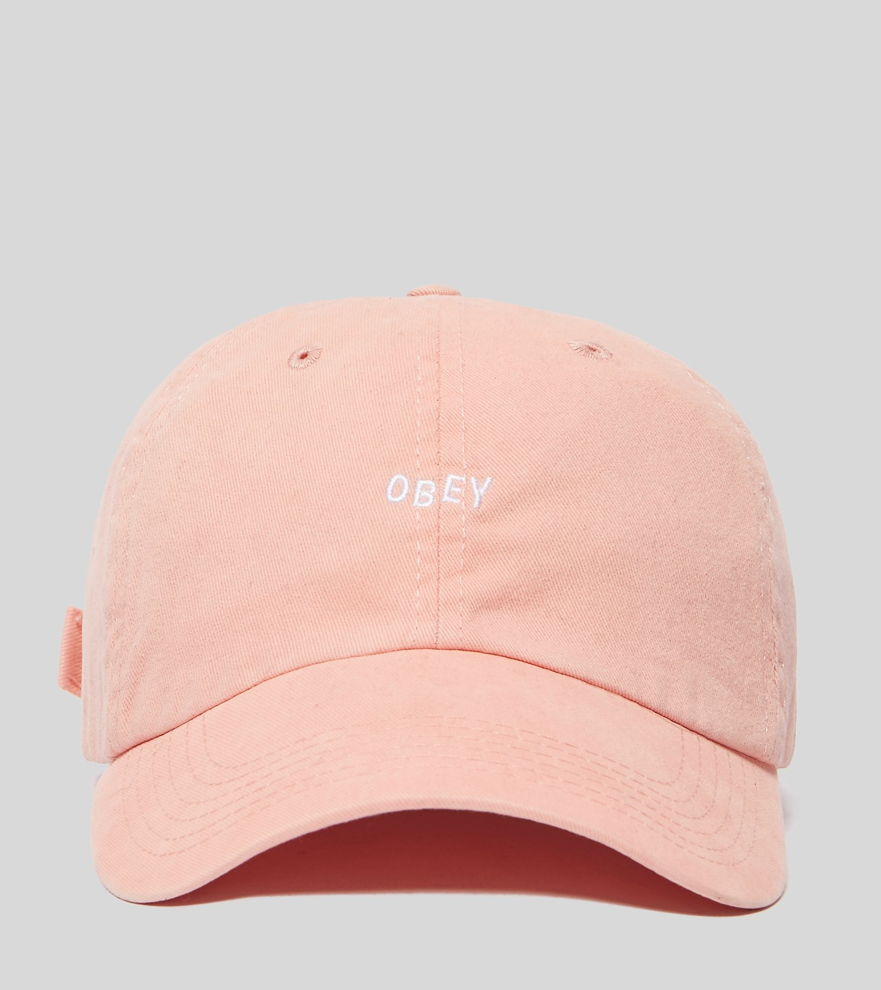 Obey Jumbled Bar Curved Strapback Cap