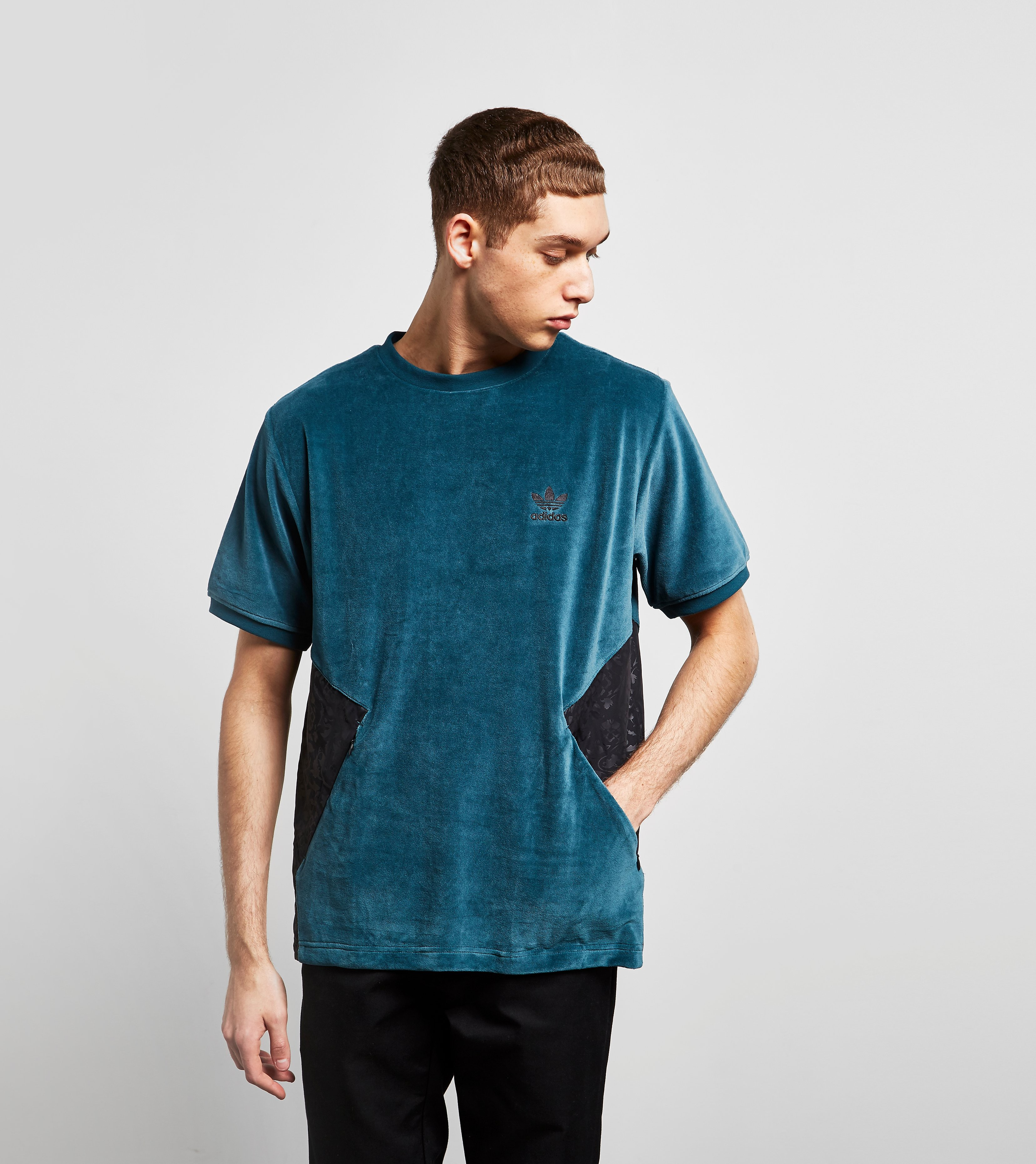 adidas Originals Short Sleeve Velour Sweat