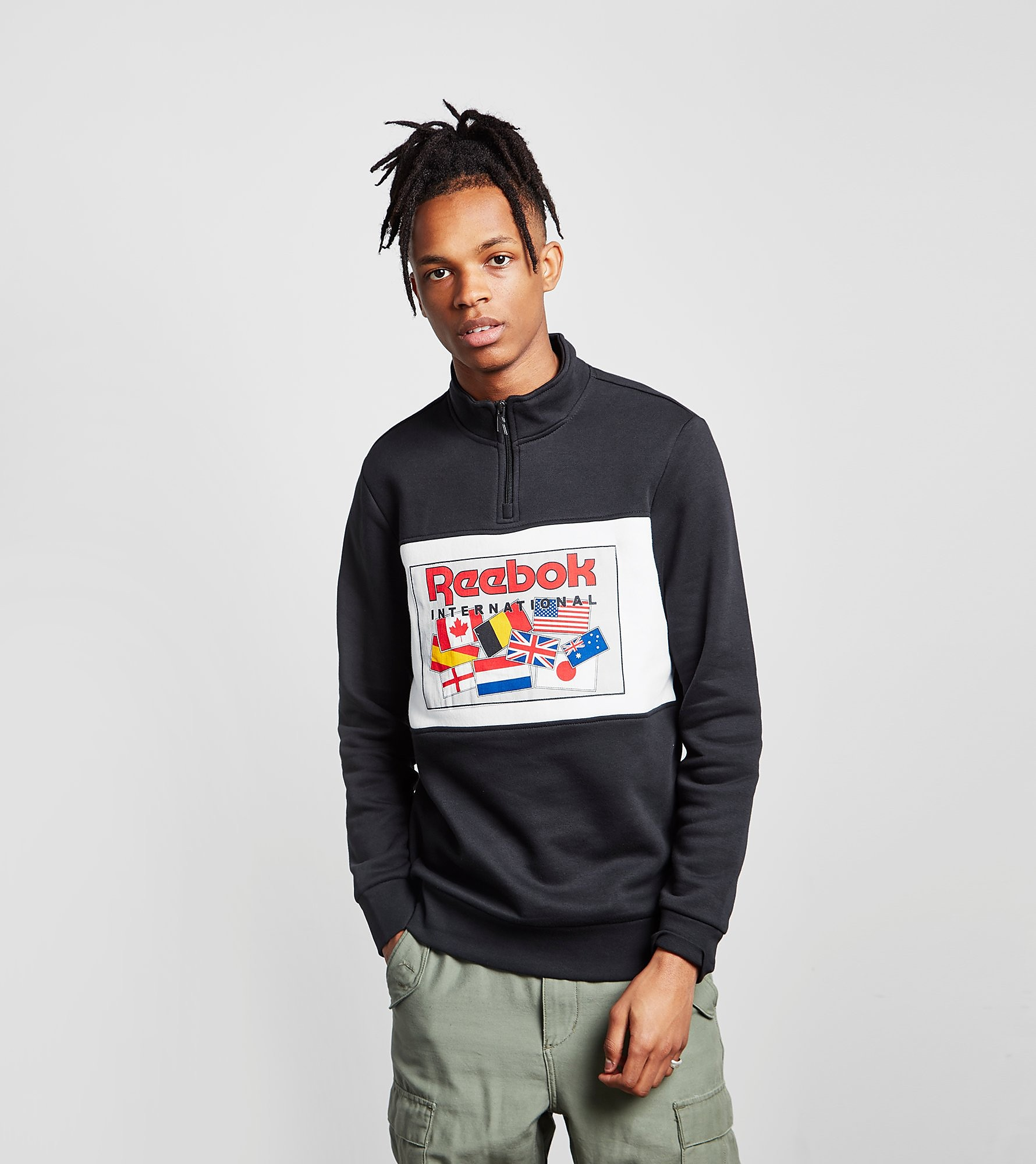 Reebok Half-Zip Sweatshirt Vector Collection