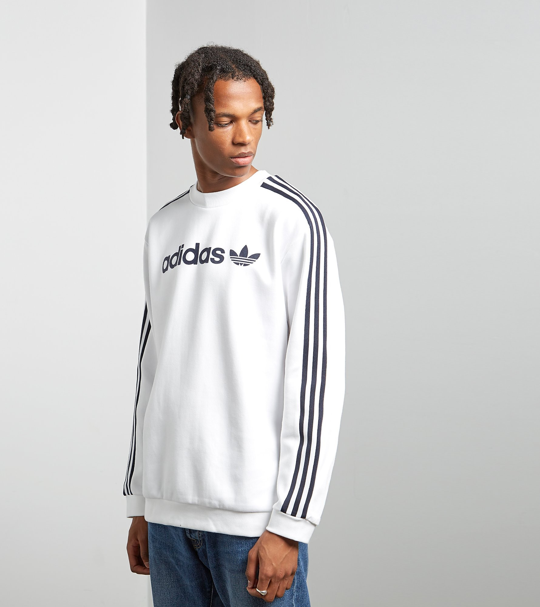 adidas Originals Linear Trefoil Sweater, White