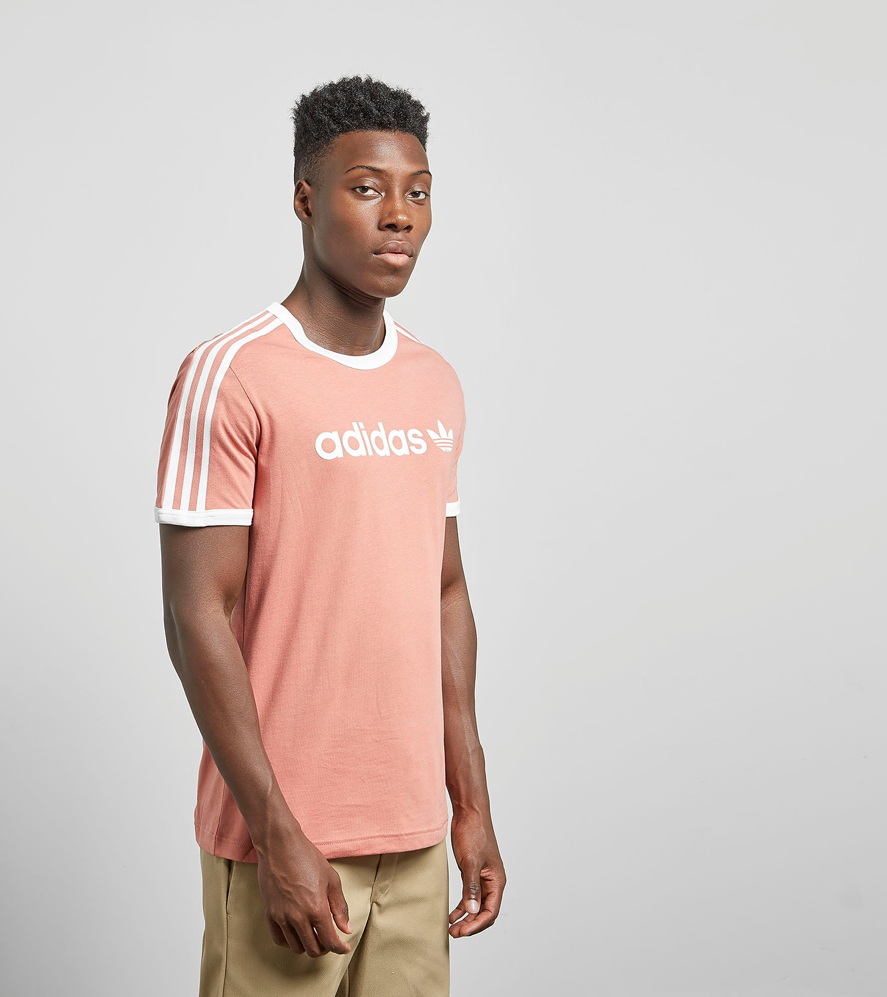 adidas Originals Linear T-Shirt - size?exclusive, Raw Pink