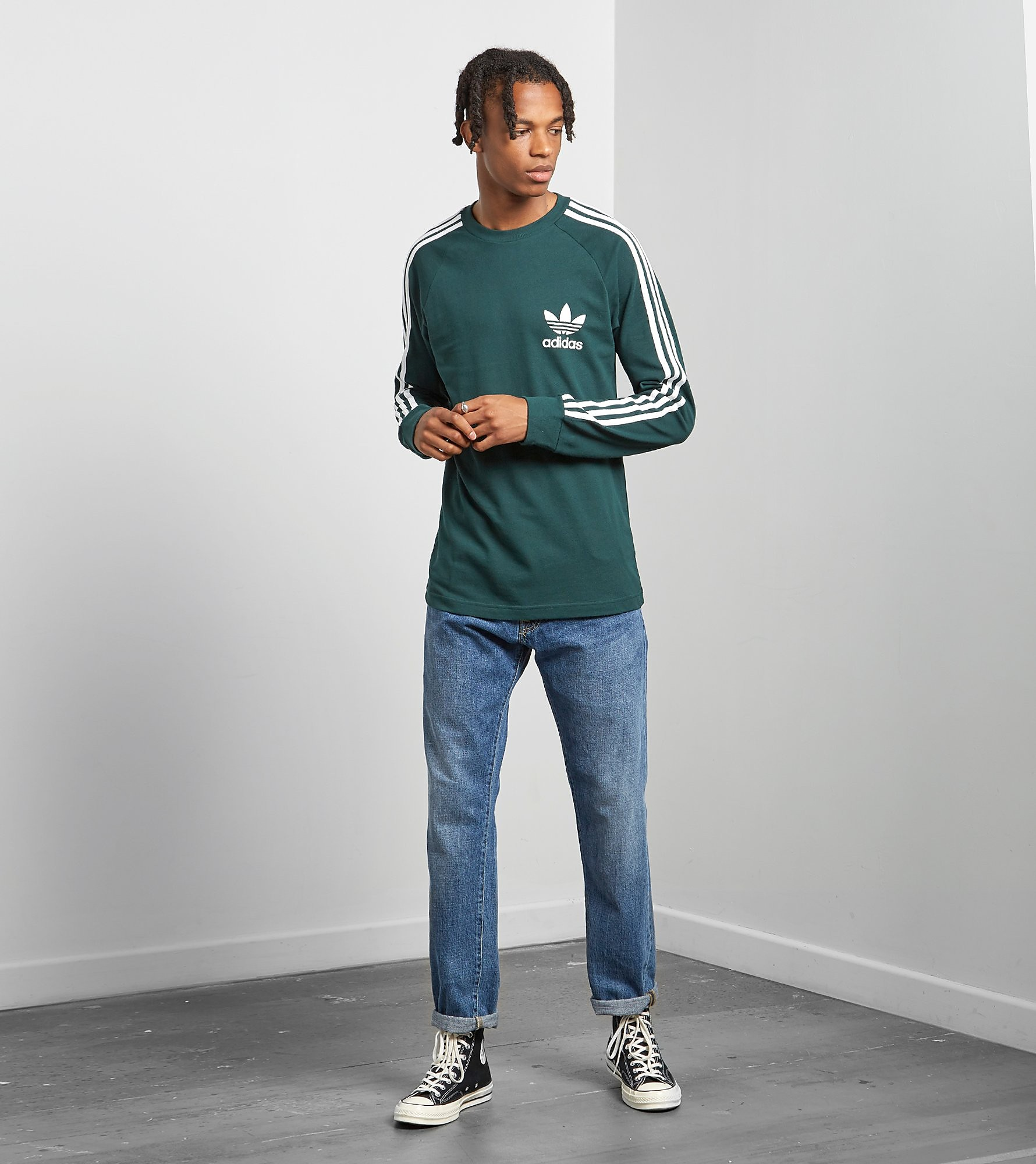 adidas Originals Pique Cali Long Sleeve T-Shirt