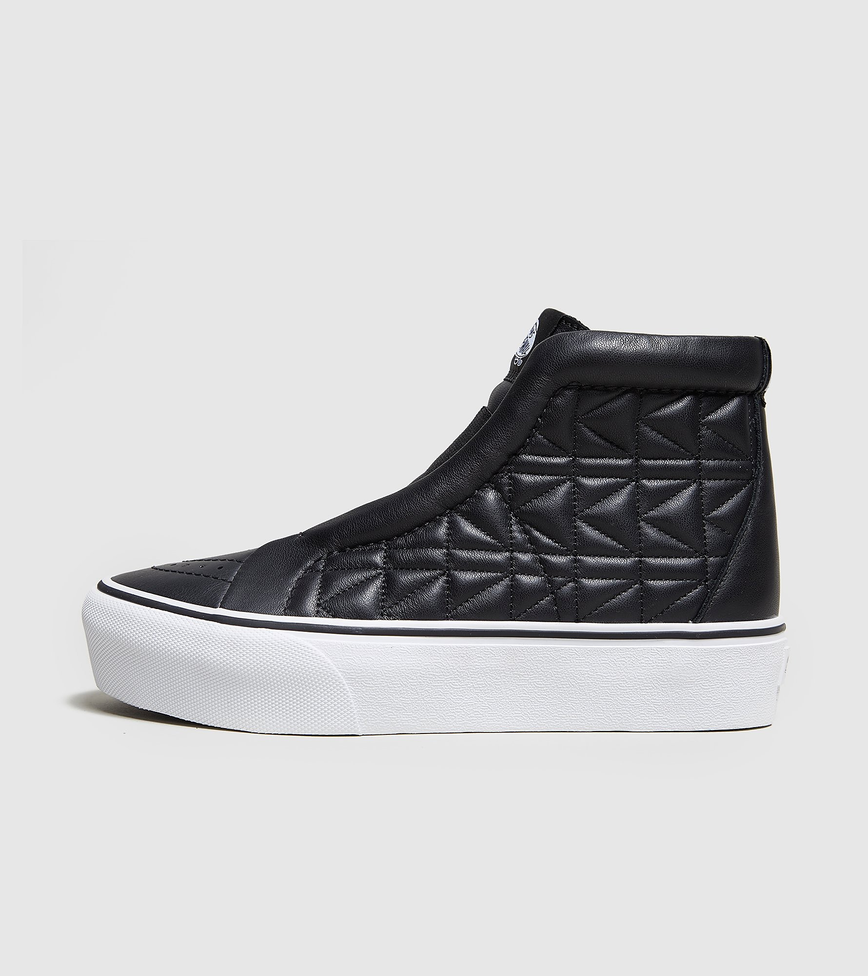 Vans SK8-Hi Laceless Platform x Karl Lagerfeld Women's, negro/blanco