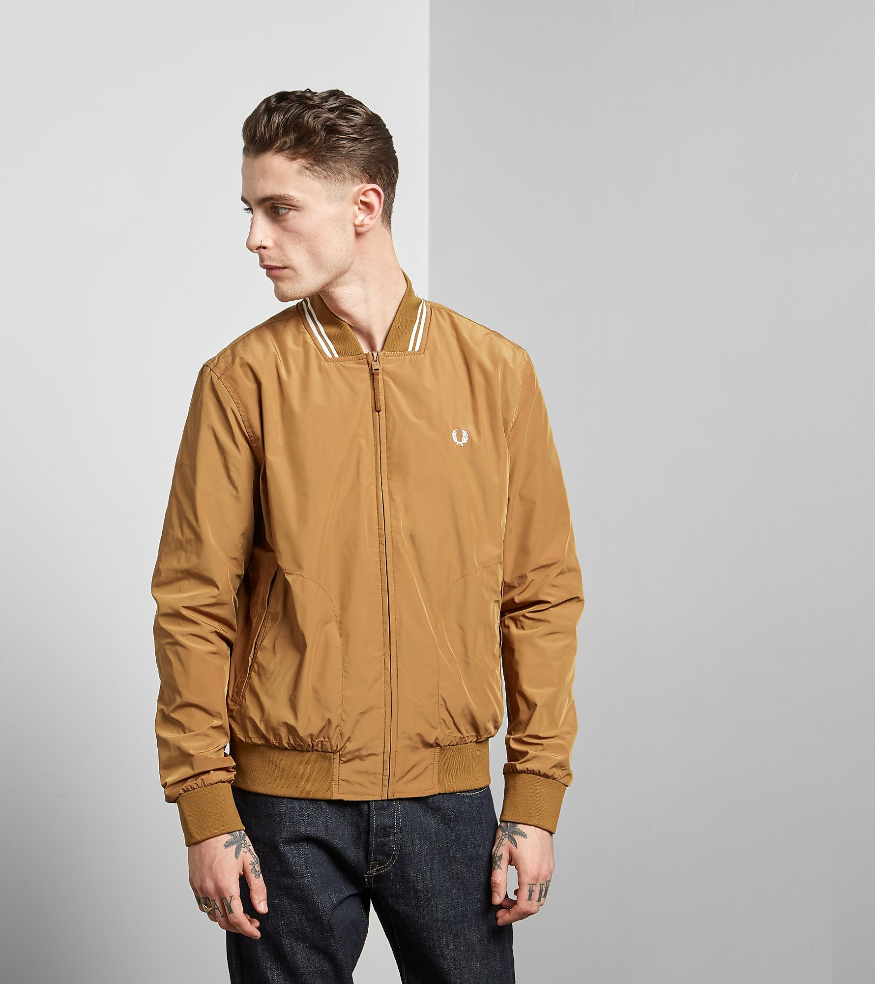 Fred Perry Tipped Lightweight Bomber Jacket