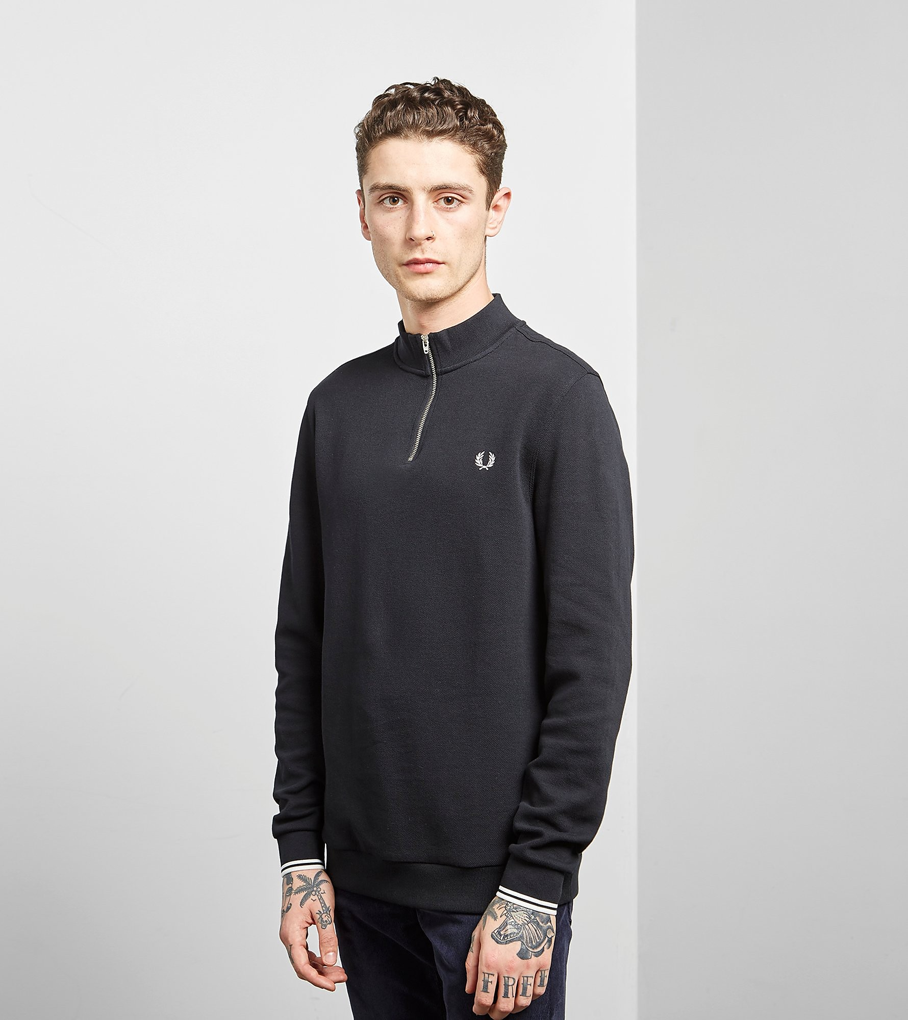 Fred Perry Quarter Zip Sweatshirt