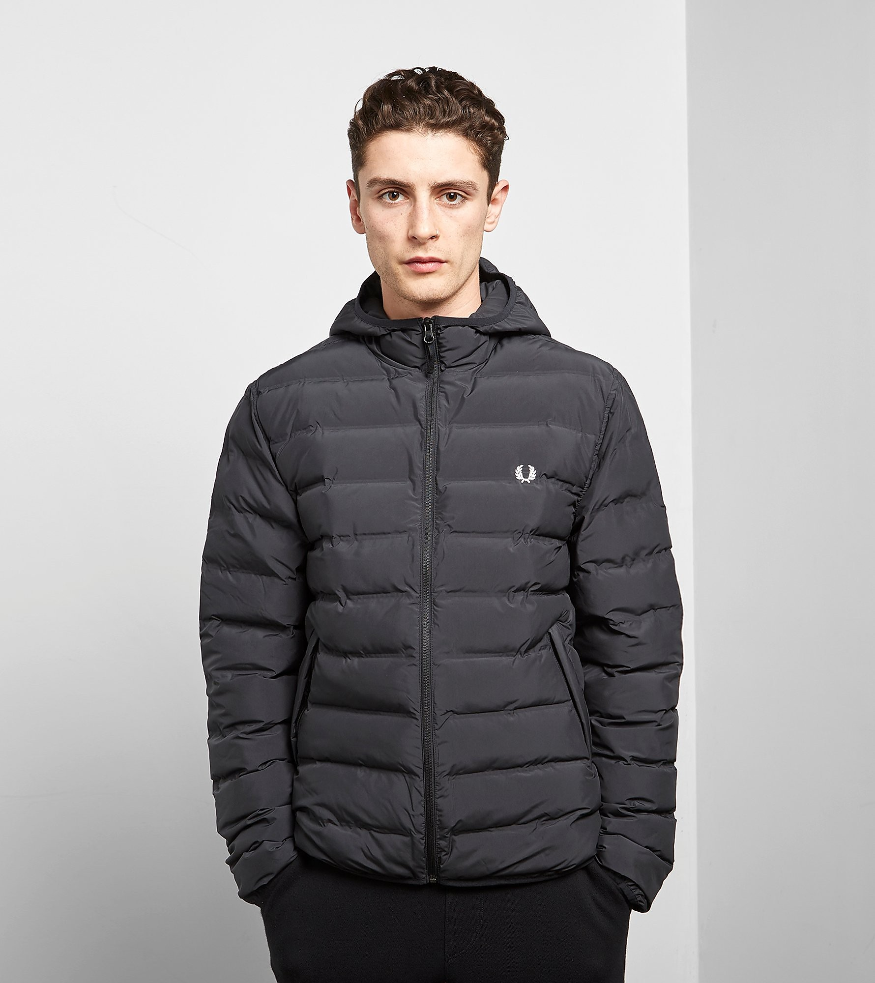 Fred Perry Padded Brentham Jacket Black