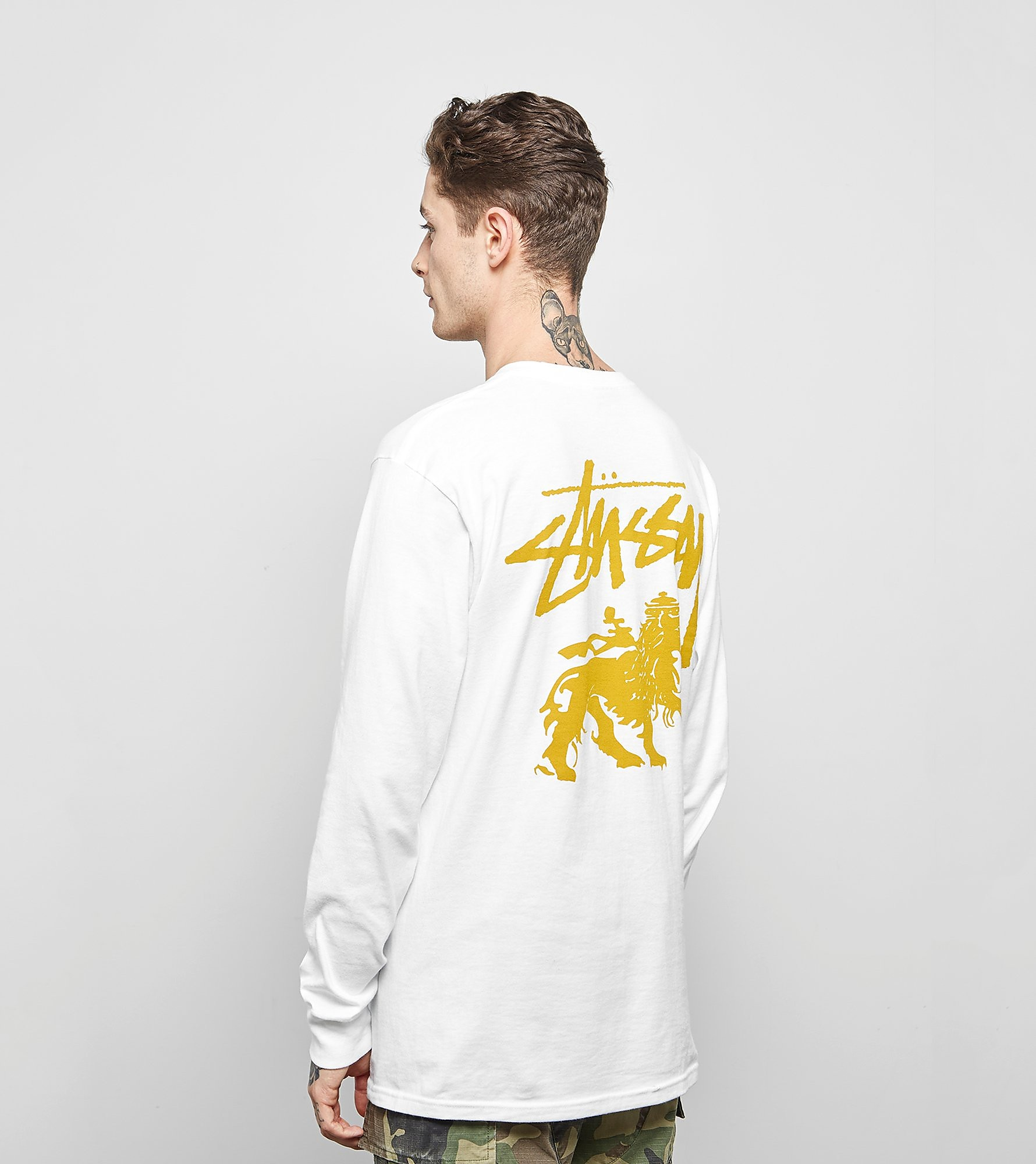 Stussy T-Shirt Manches Longues Stock Lion
