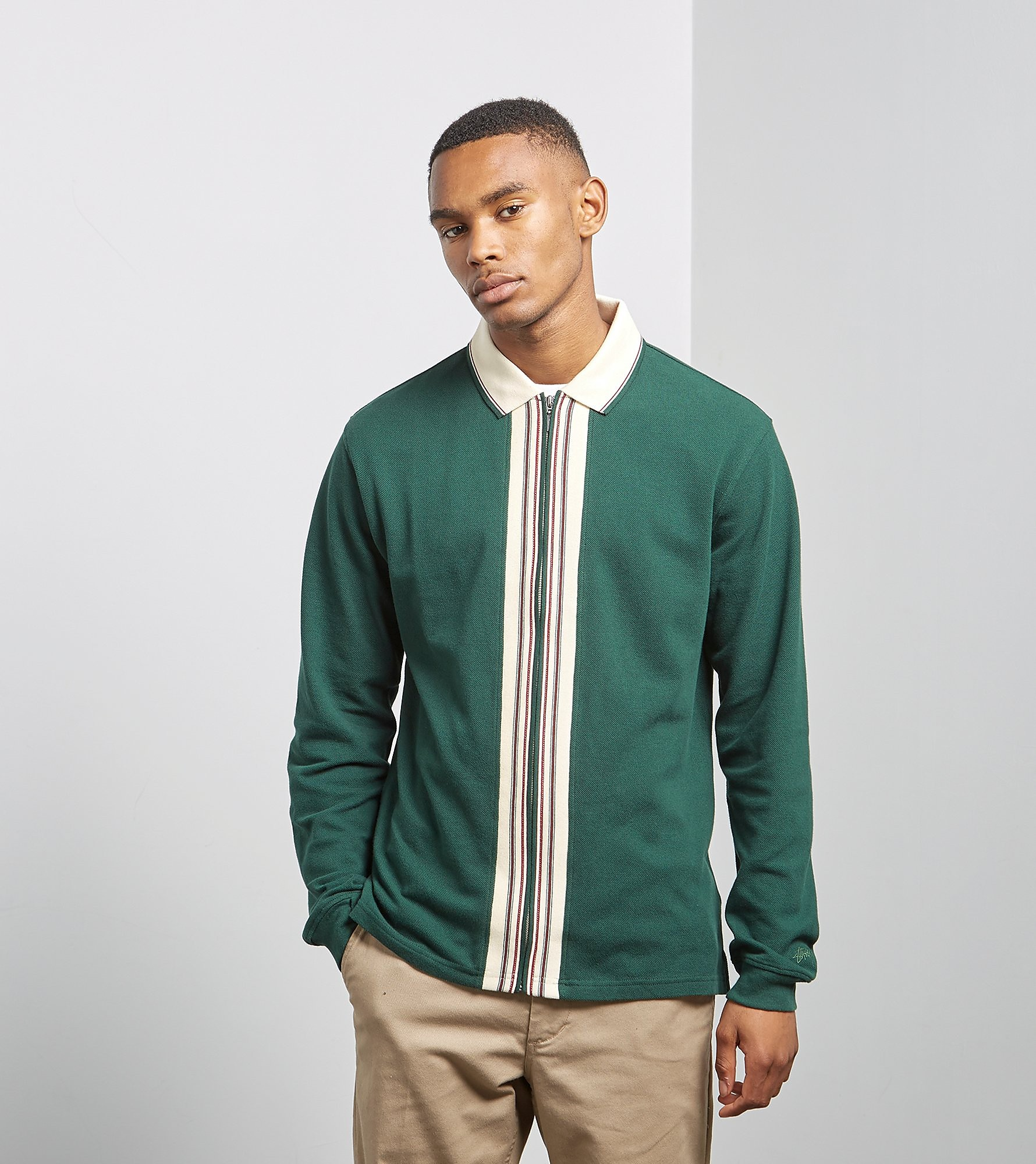 Stussy Full-Zip Long Sleeved Polo