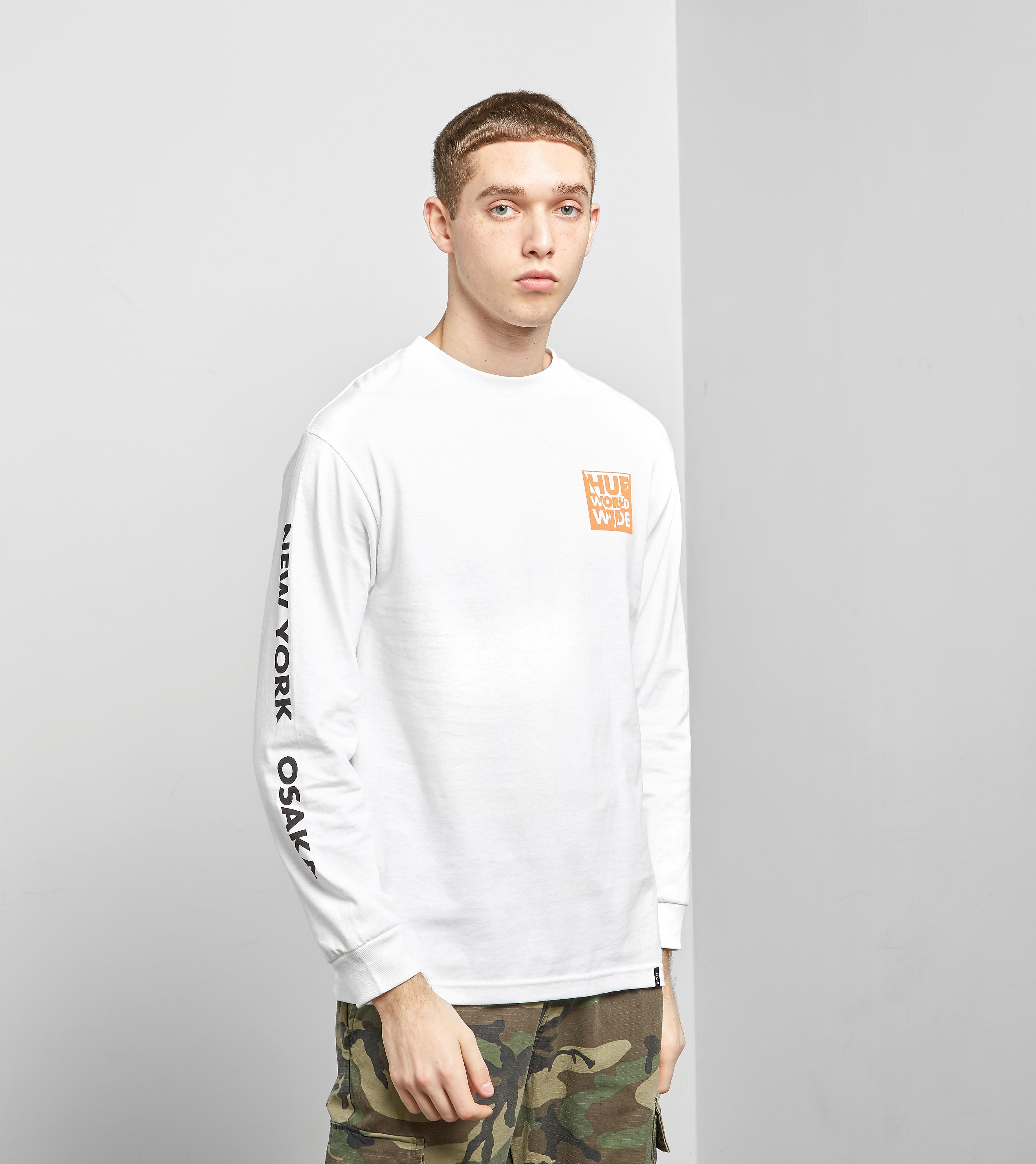HUF International Block Long Sleeved T-Shirt