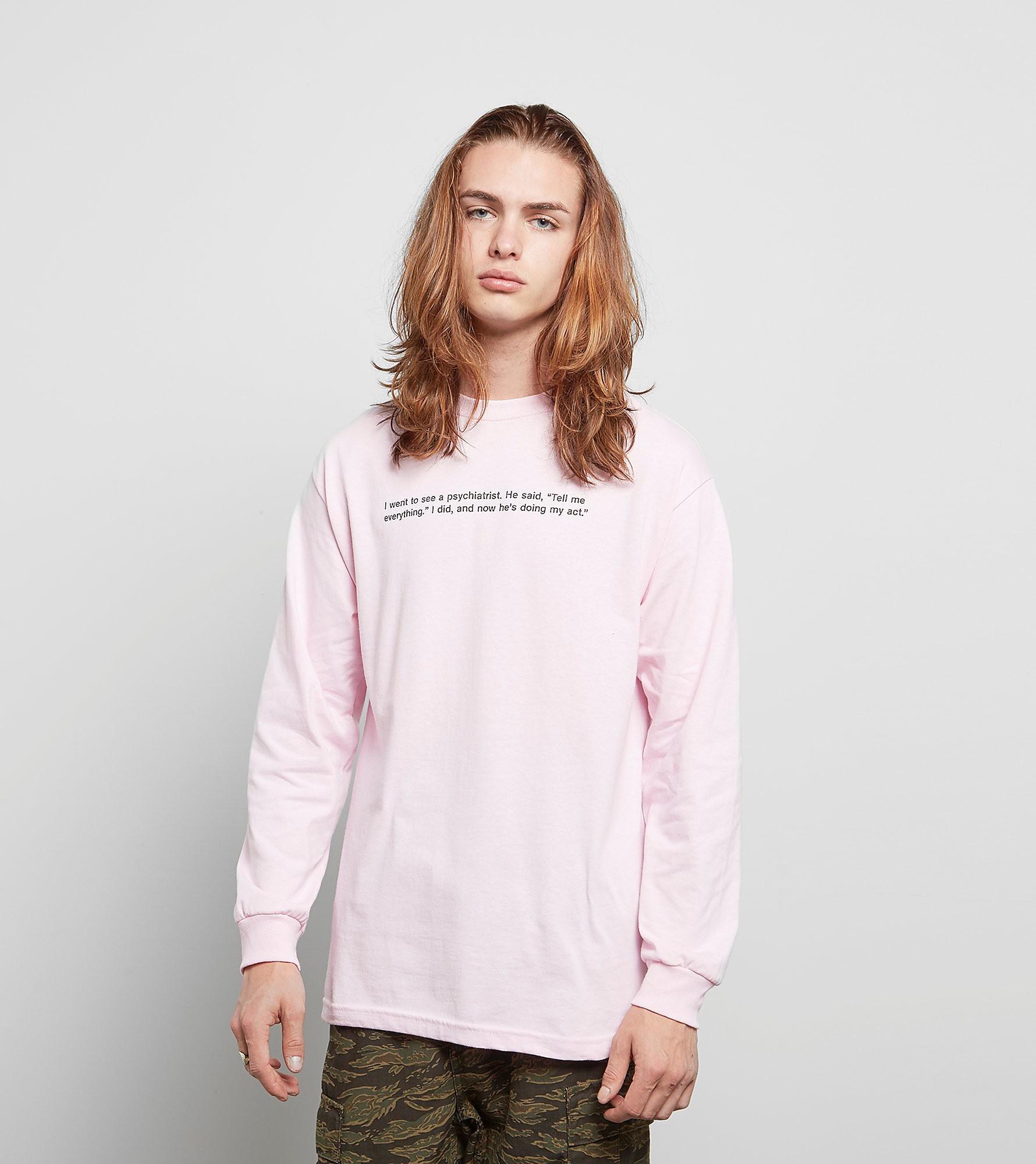 PLEASURES Long-Sleeved Punchline T-Shirt
