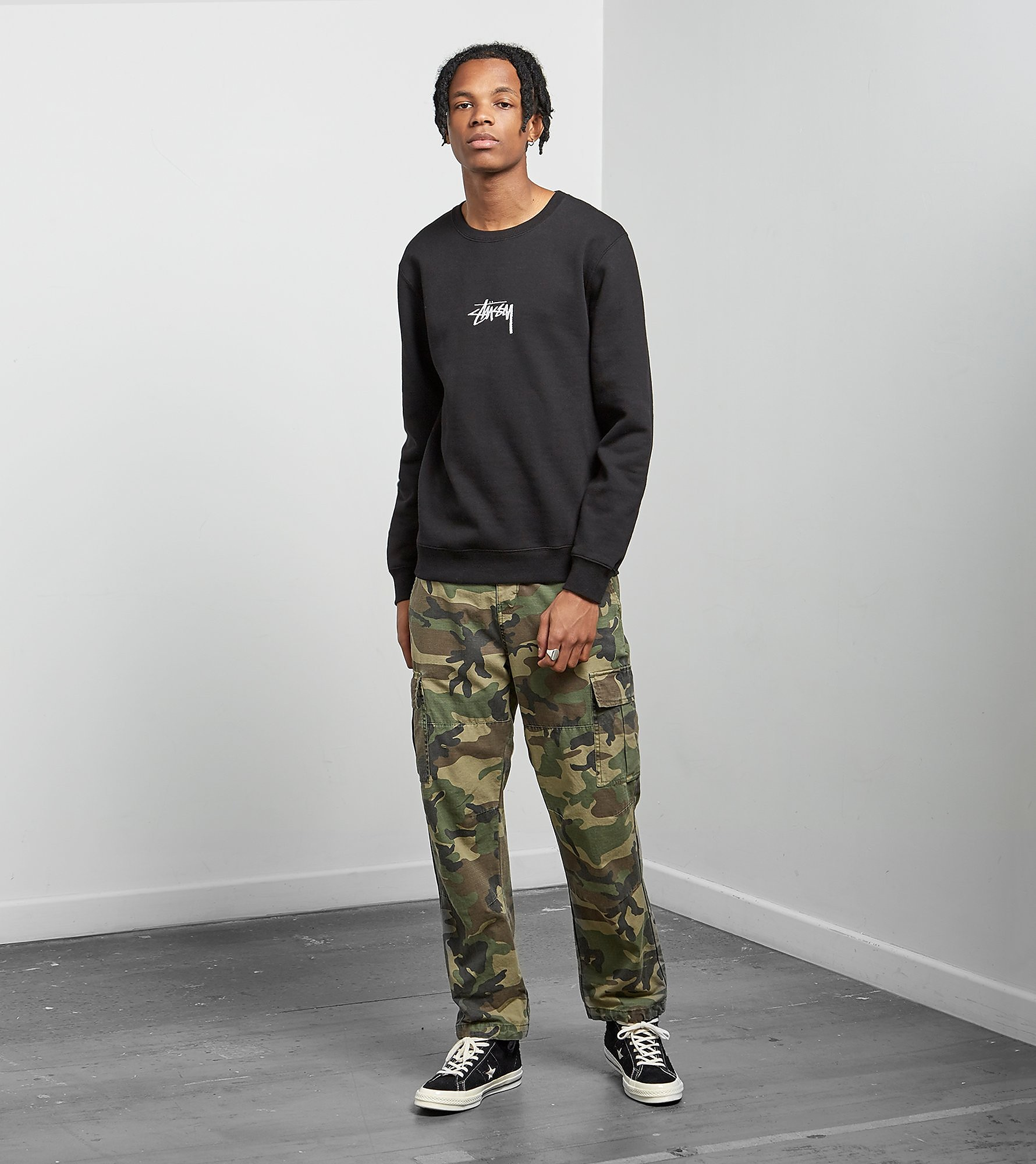 Stussy Stock Applique Crewneck Sweatshirt