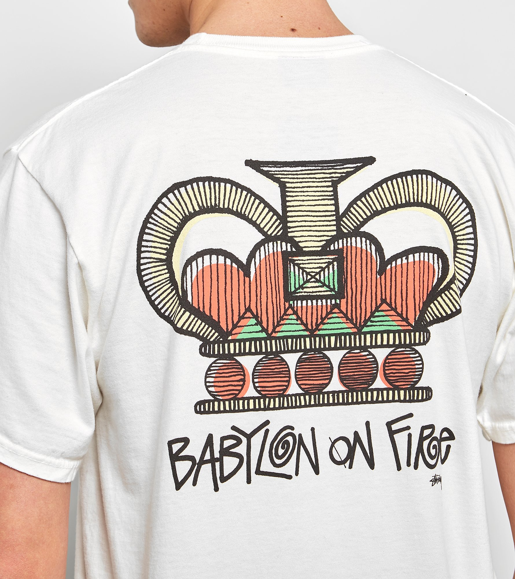 Stussy T-Shirt Babylon On Fire