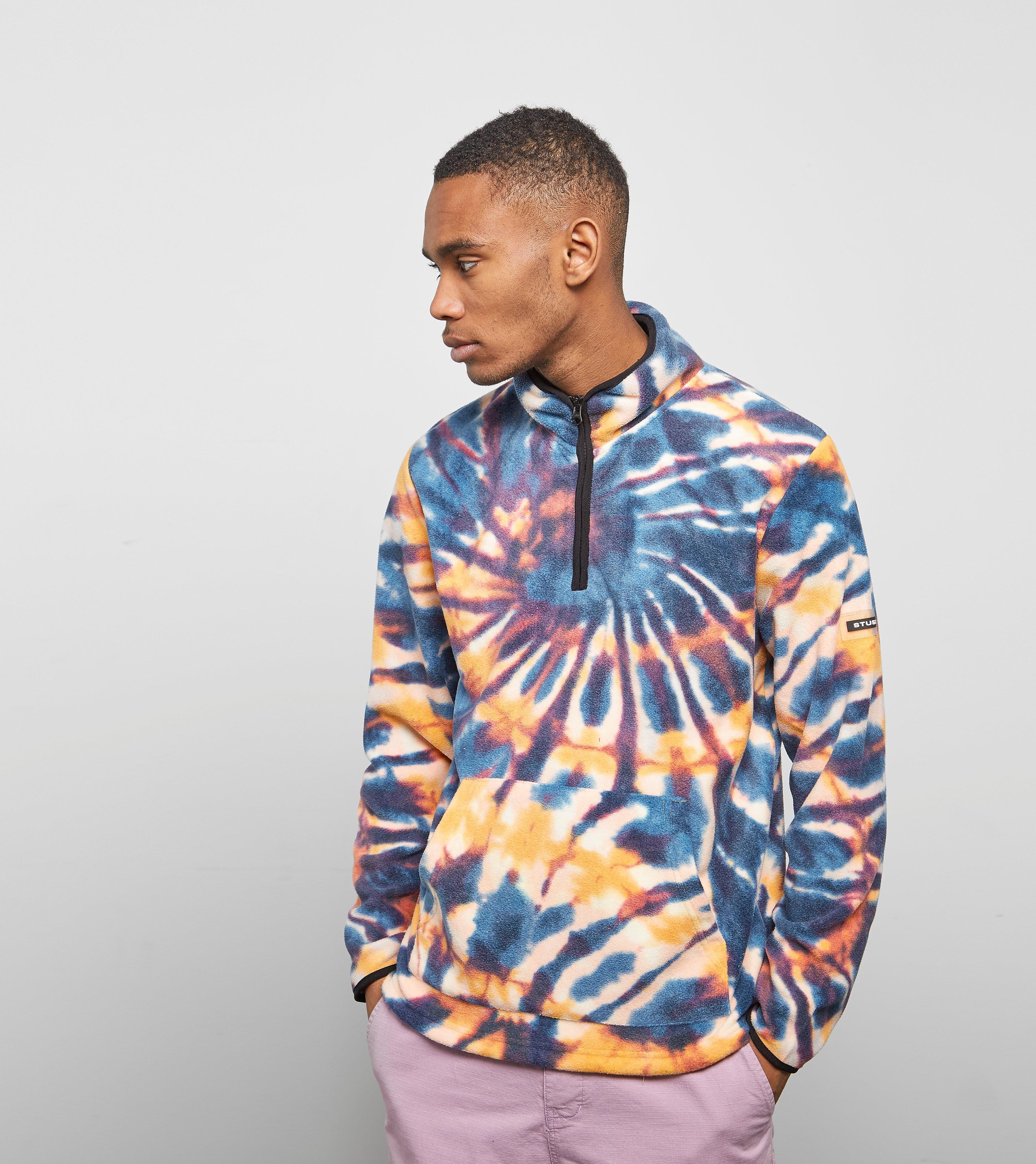 Stussy Tie Dye Fleece Mock Sweatshirt