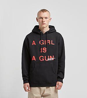 402cde1bc01ff4 PLEASURES A Girl Is A Gun Hoodie ...
