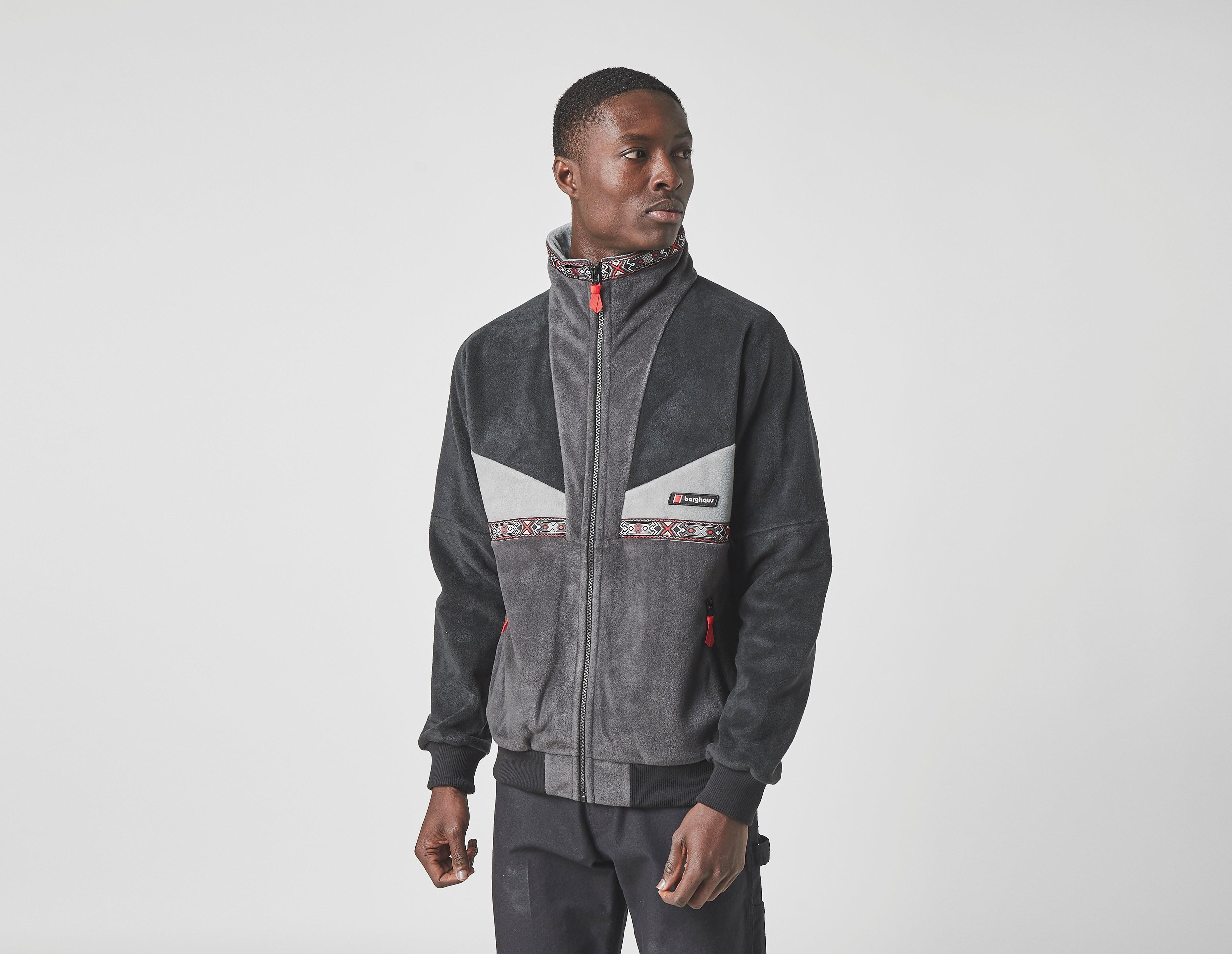 berghaus tramantana full zip fleece, black/grey