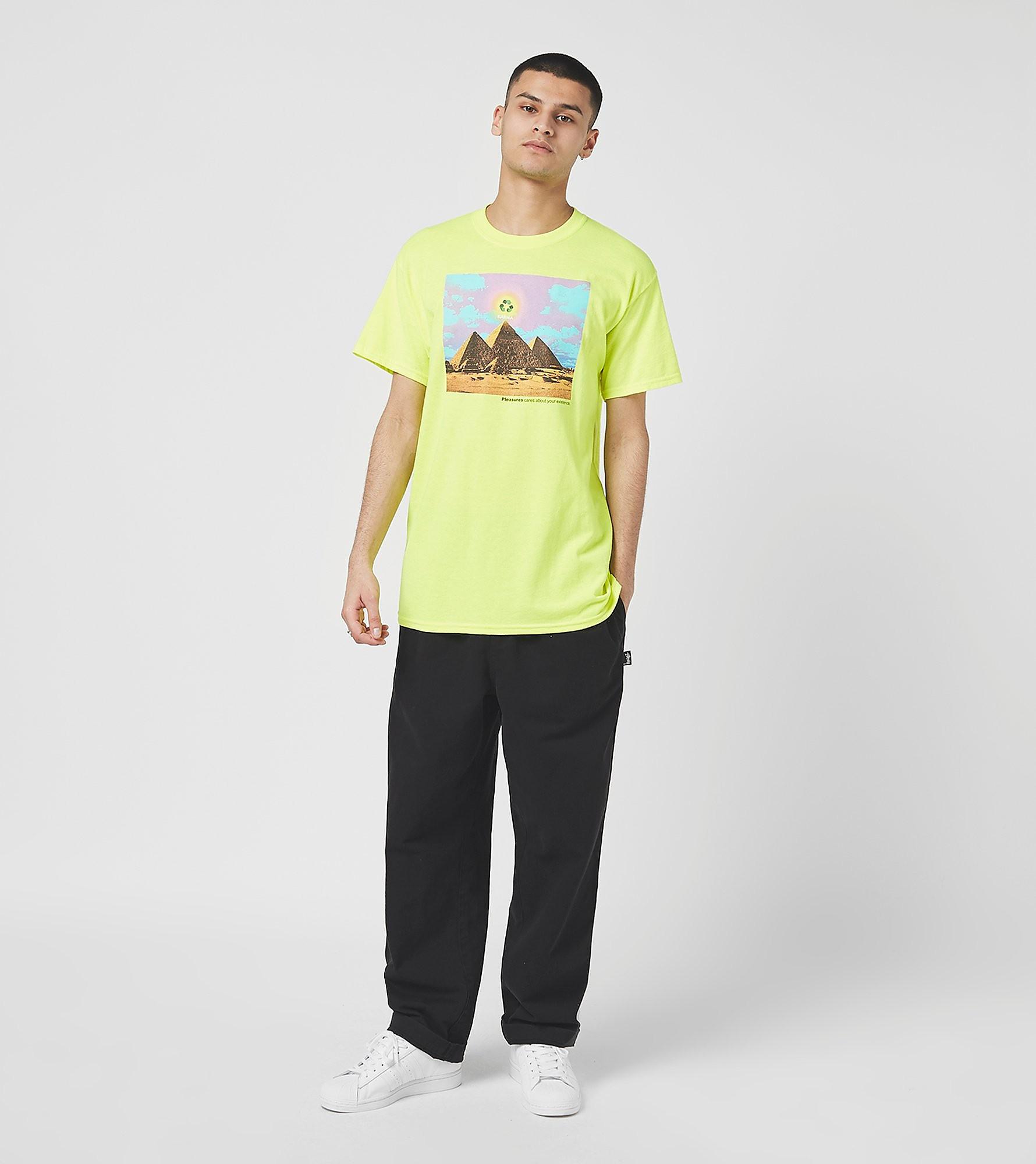 PLEASURES T-Shirt Karma, Vert