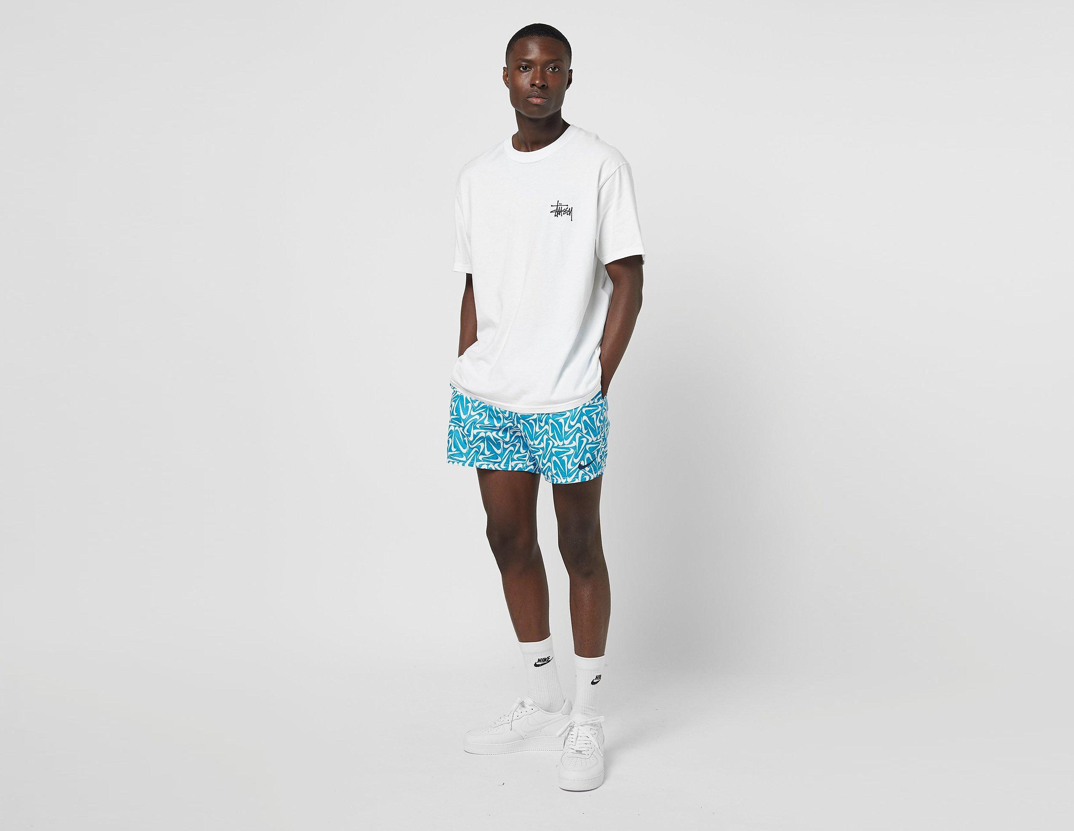 Nike All Over Print Swim Shorts, celeste