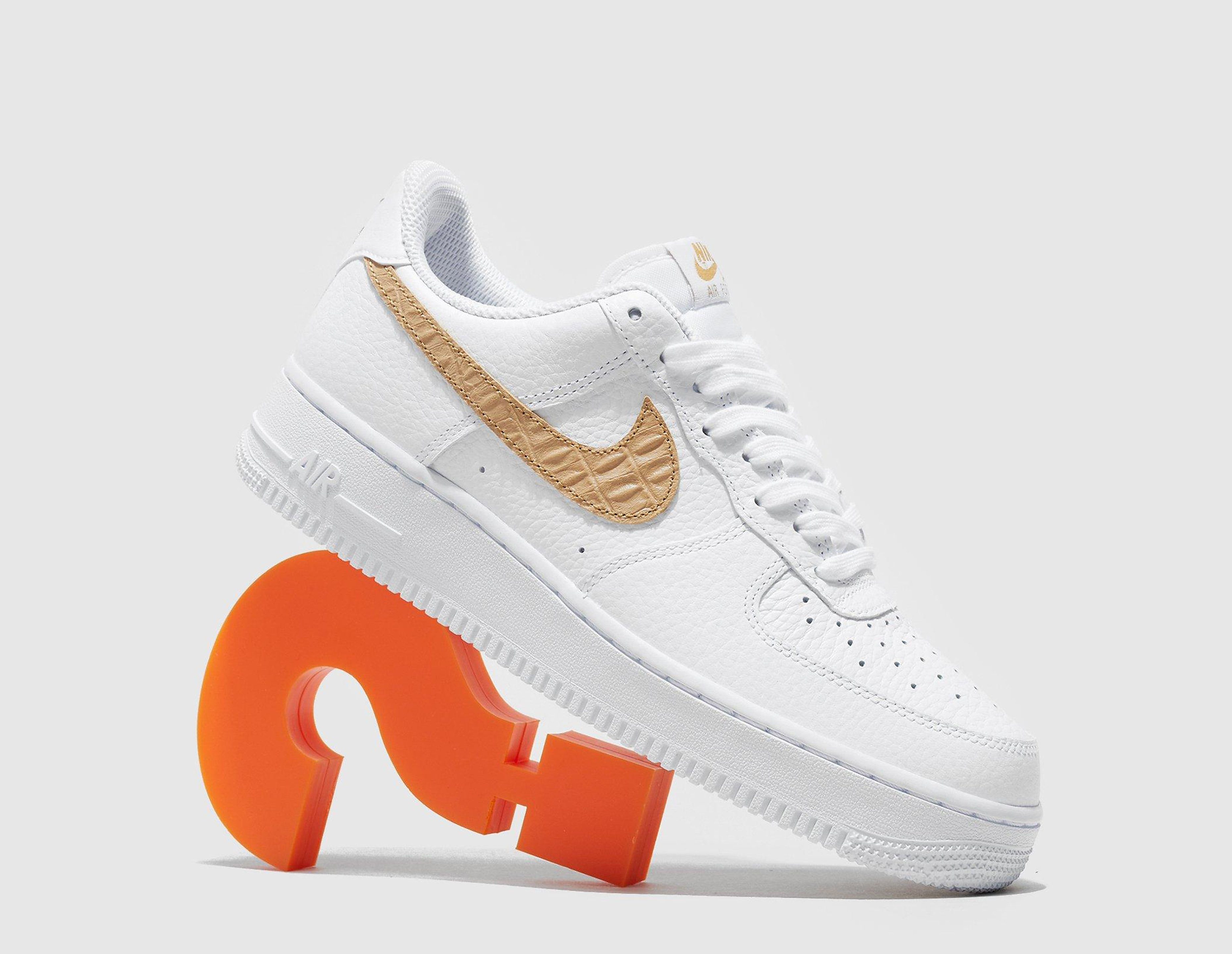 Nike Air Force 1, WHT/GLD/WHT/GLD