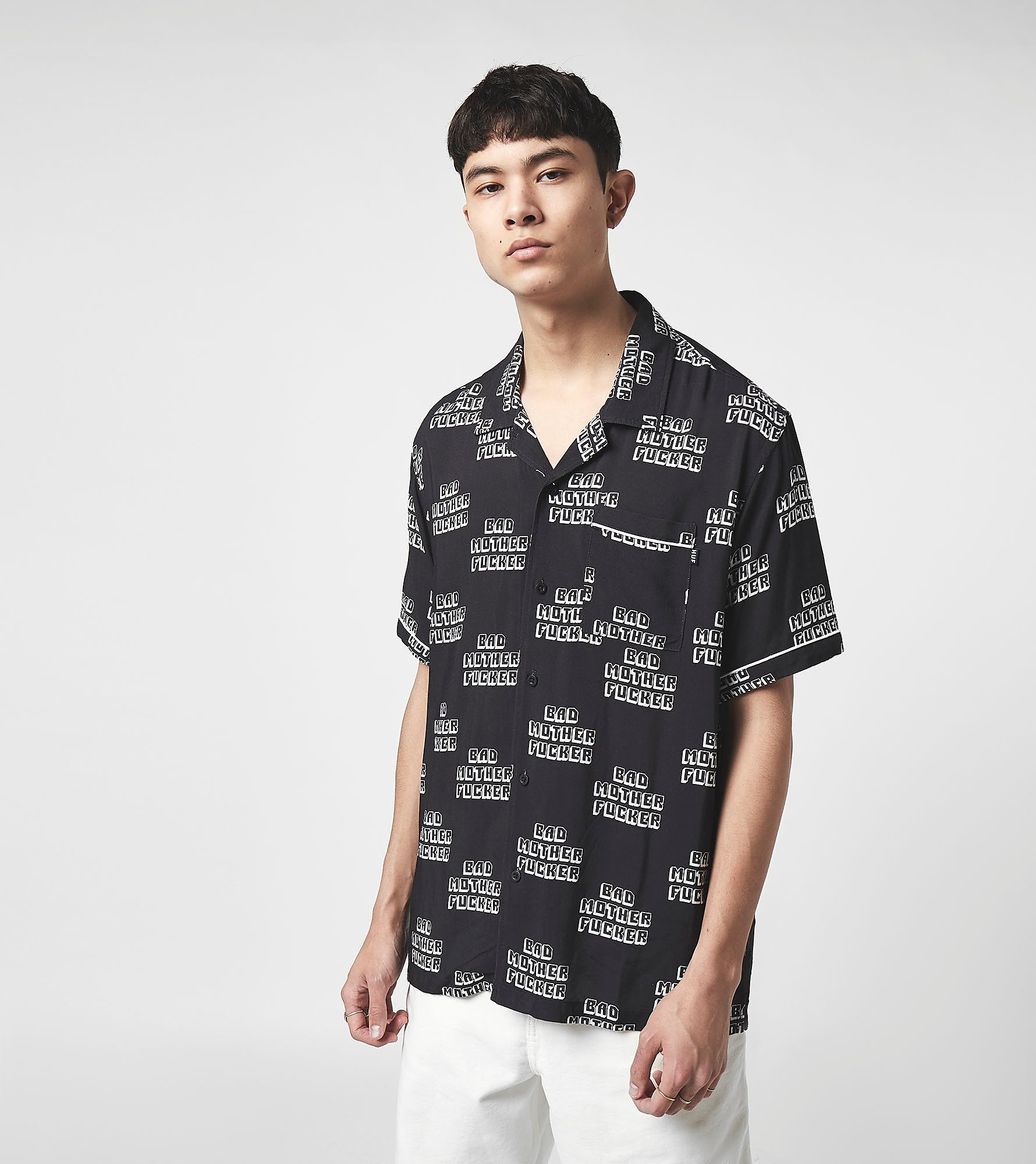 HUF Chemise x Pulp Fiction Bad Mother Fucker, Noir