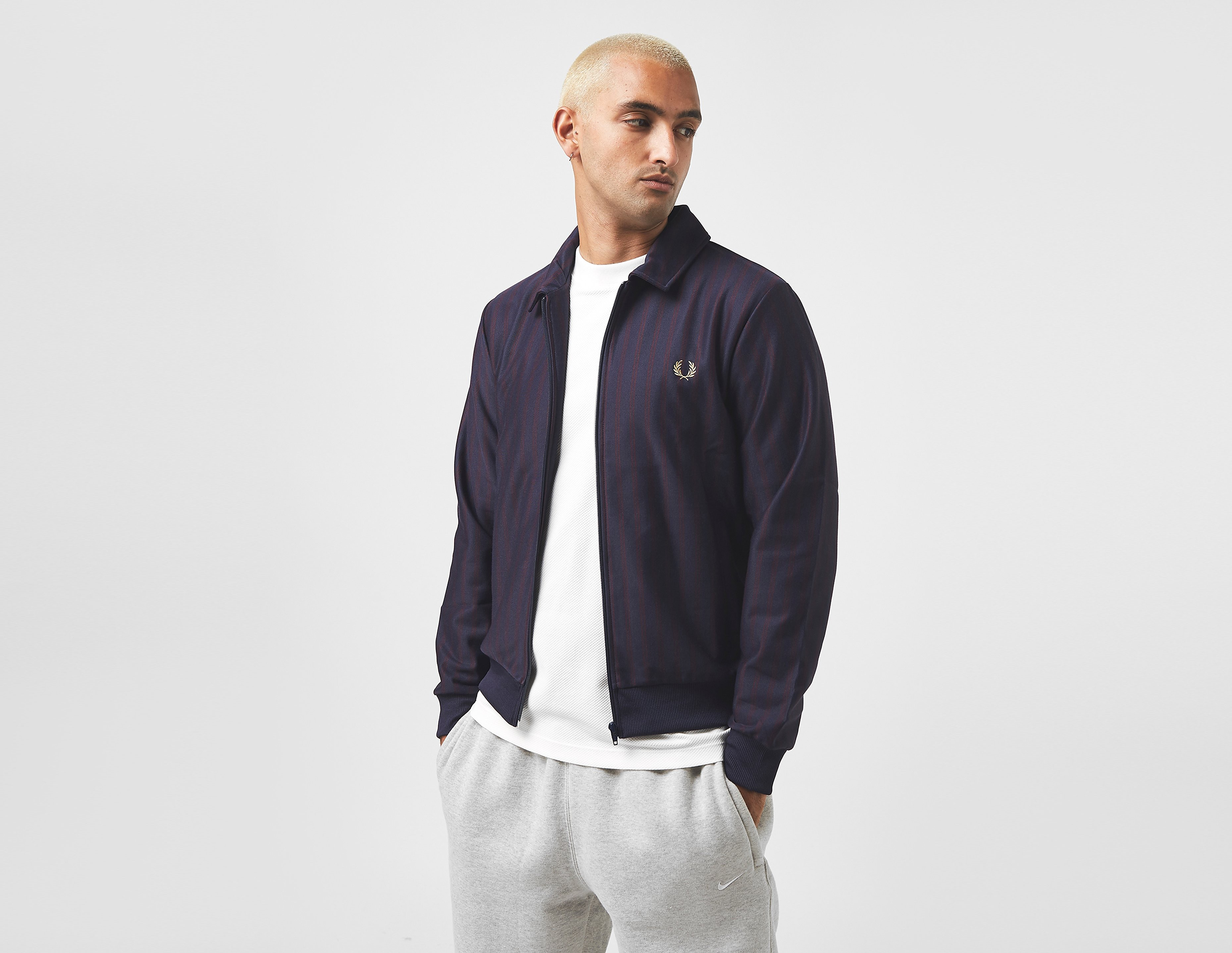 Fred Perry Striped Track Jacket, C.BL/C.BL