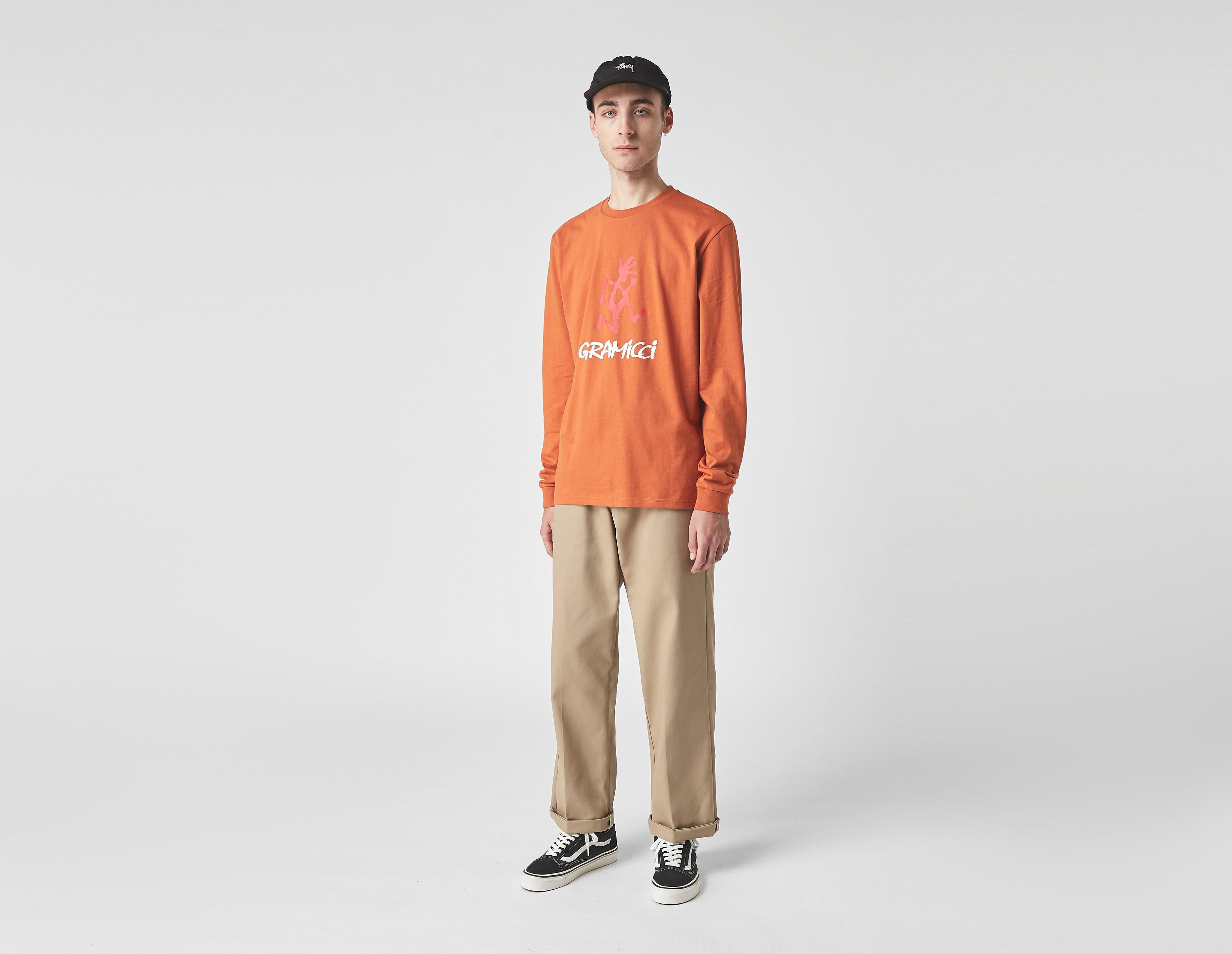 Gramicci Long Sleeve Logo T-Shirt, Orange/Red