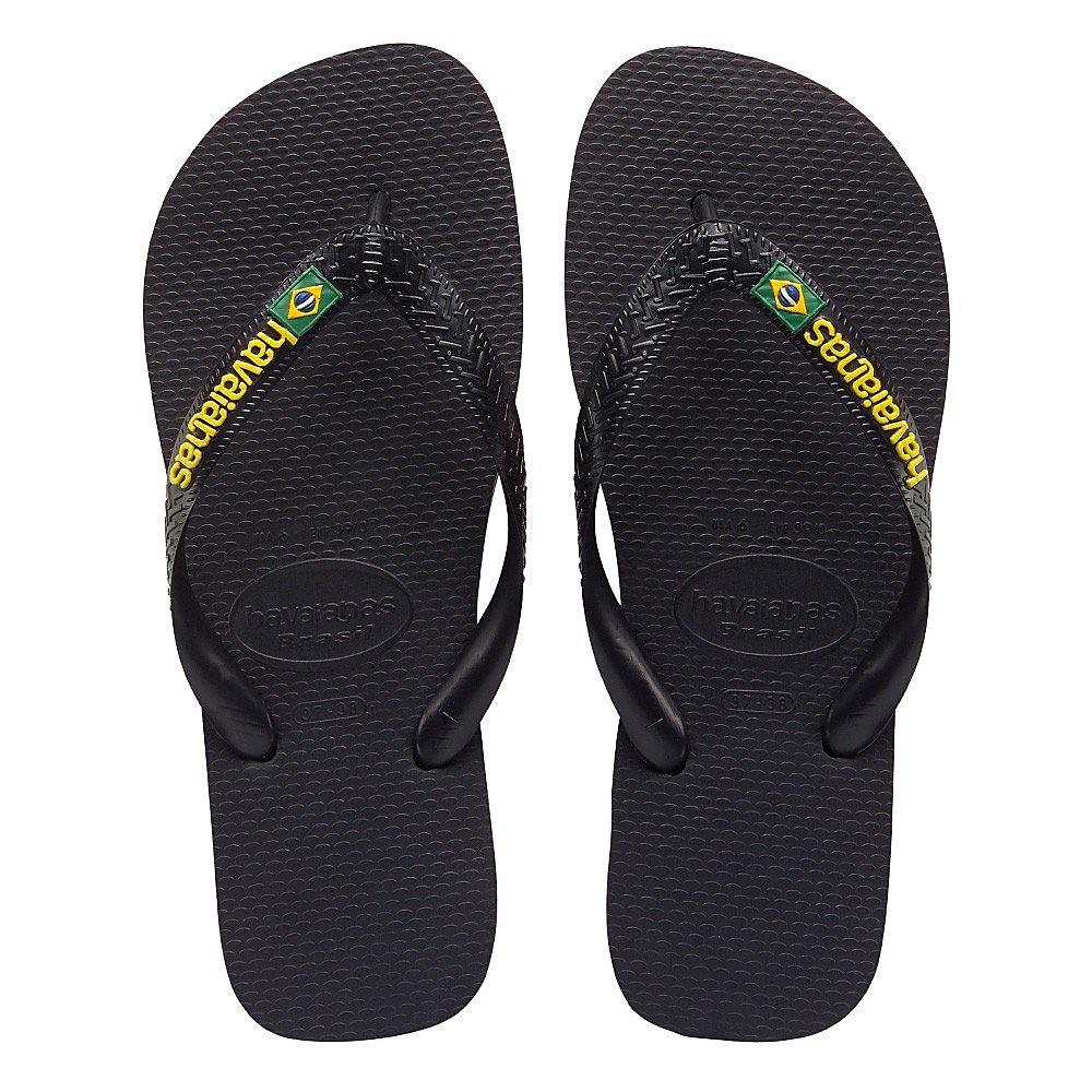 Havaianas Brazil Logo Unisex Flip Flops - Black