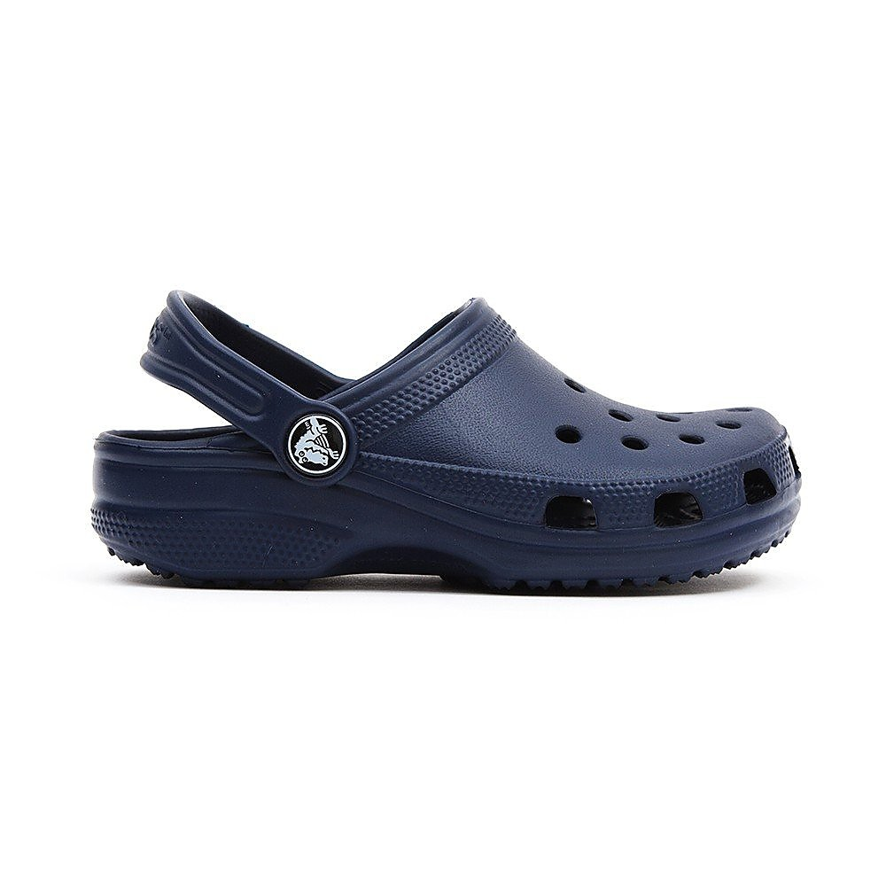 Crocs Infants Classic Cayman Sandals - Navy
