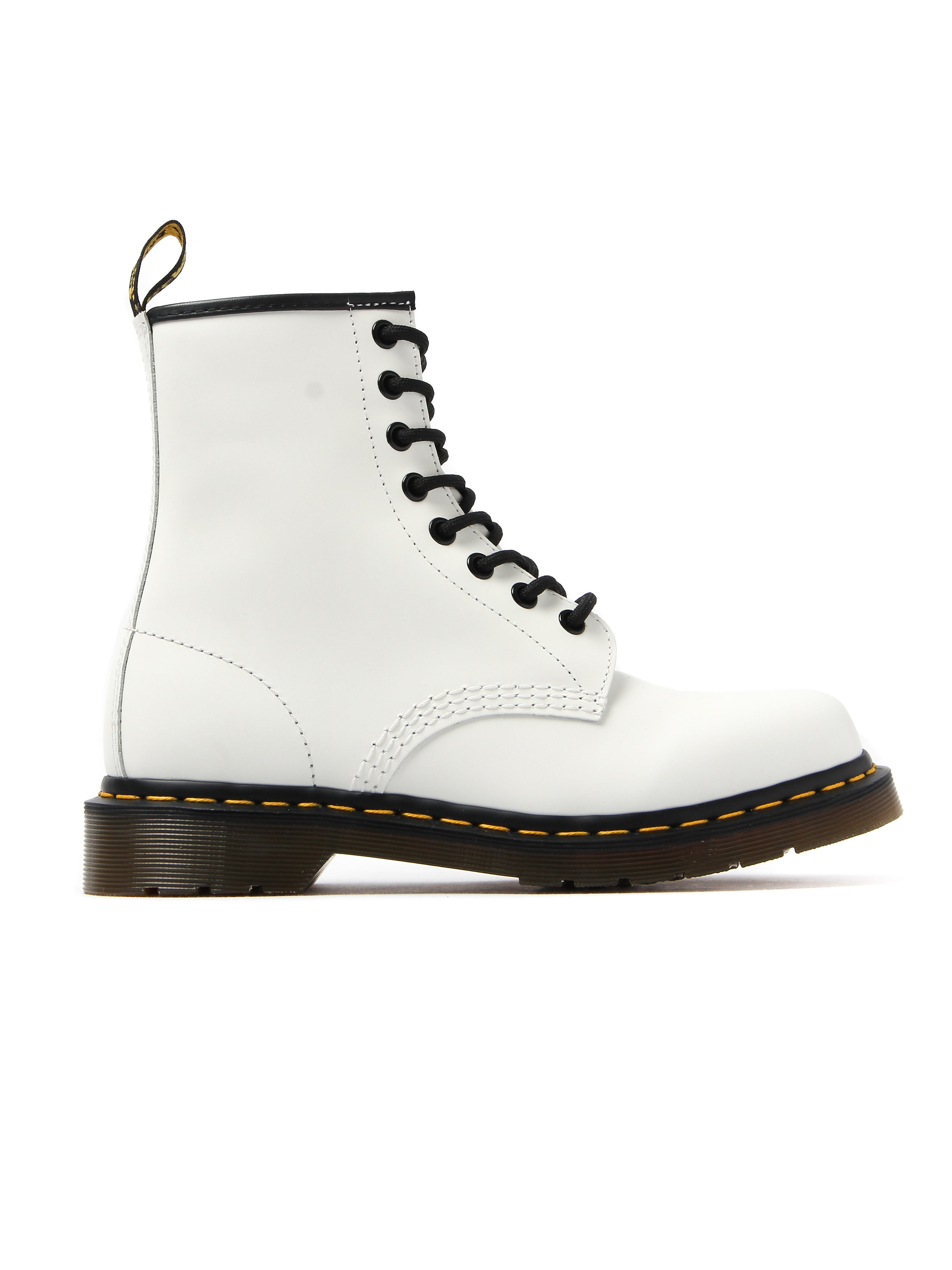 Dr Martens Womens 8 Eyelet 1460 Smooth Leather Boot - White
