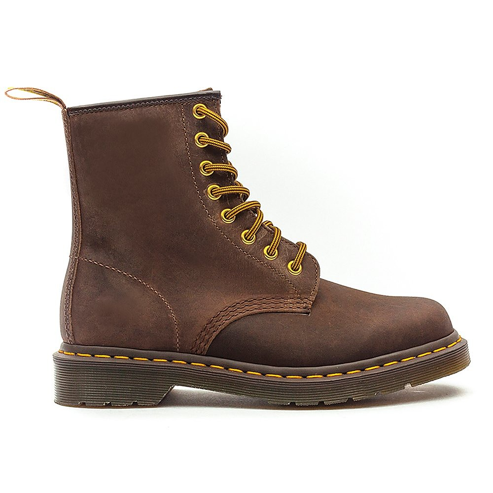 Dr Martens Mens 1460 Crazy Horse Aztec Brown Leather Boots