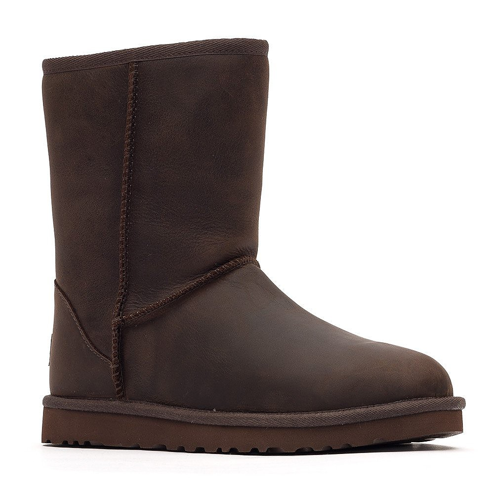 Ugg Womens Classic Short Boots - Brownstone Leather