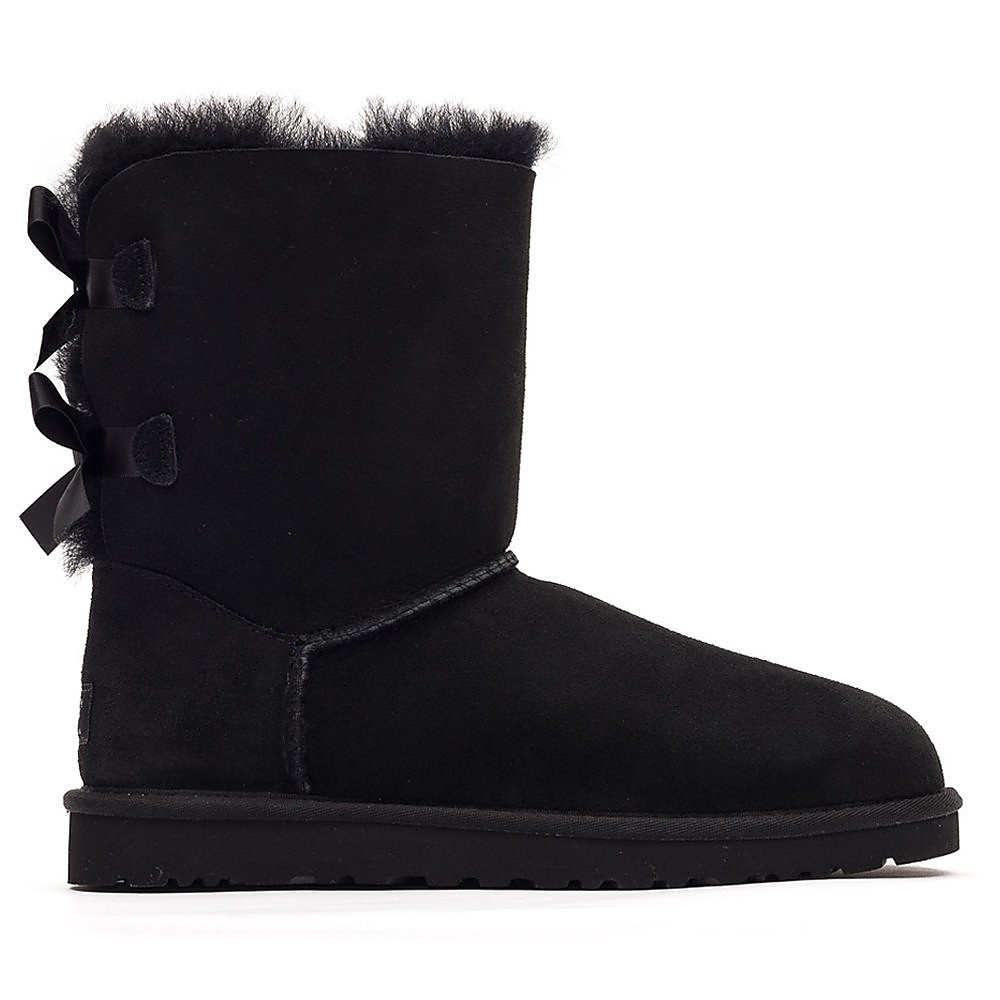 Ugg Women's Bailey Bow Short Boots - Black