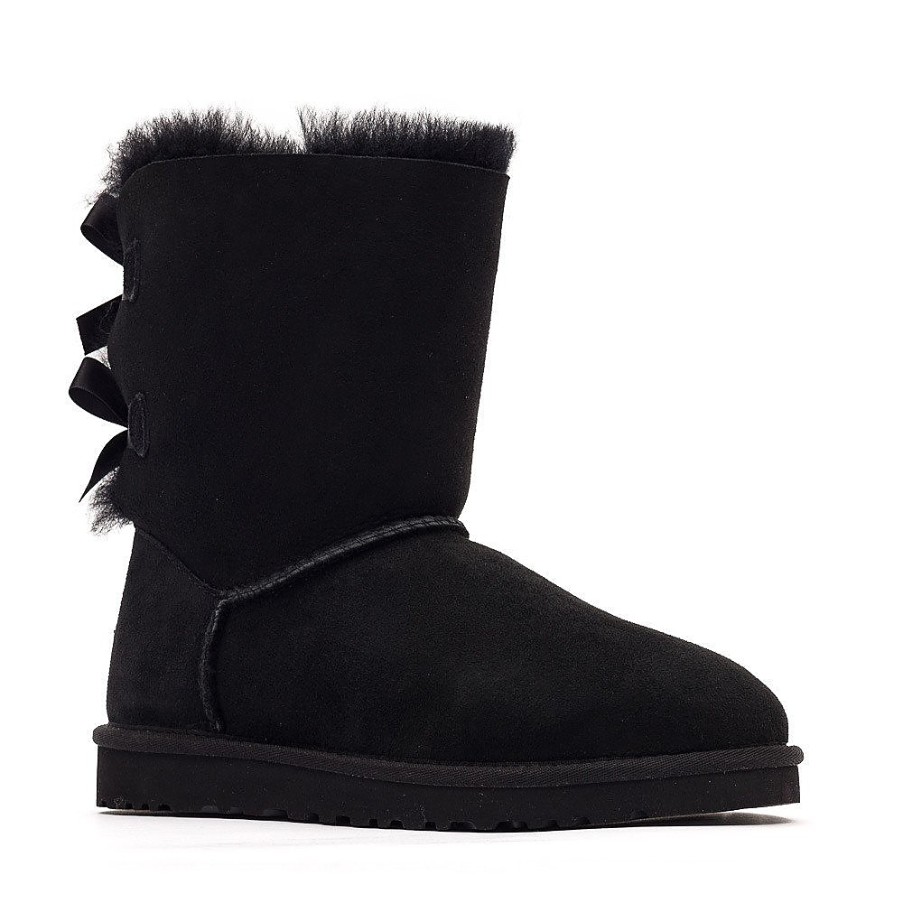 UGG Australia Womens Bailey Bow Boots - Black