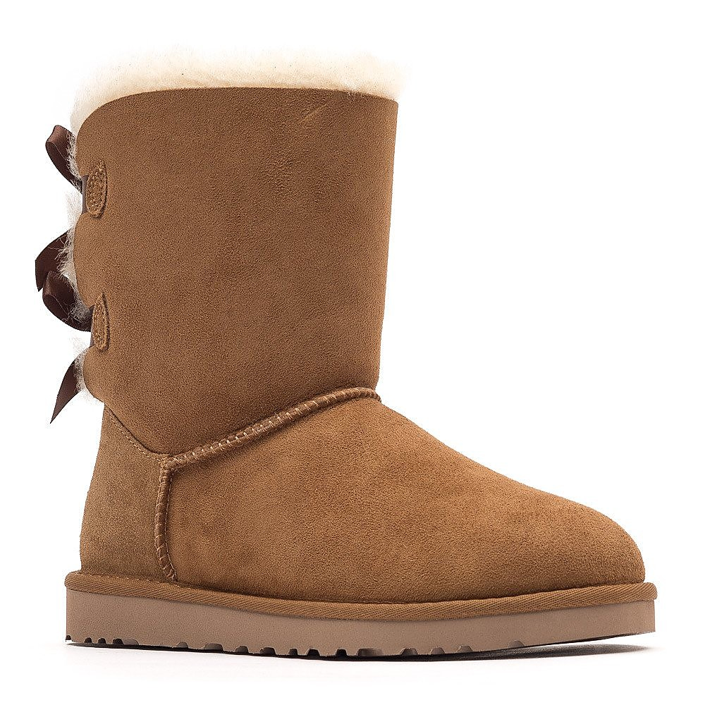 Ugg Womens Bailey Bow Short Boots - Chestnut