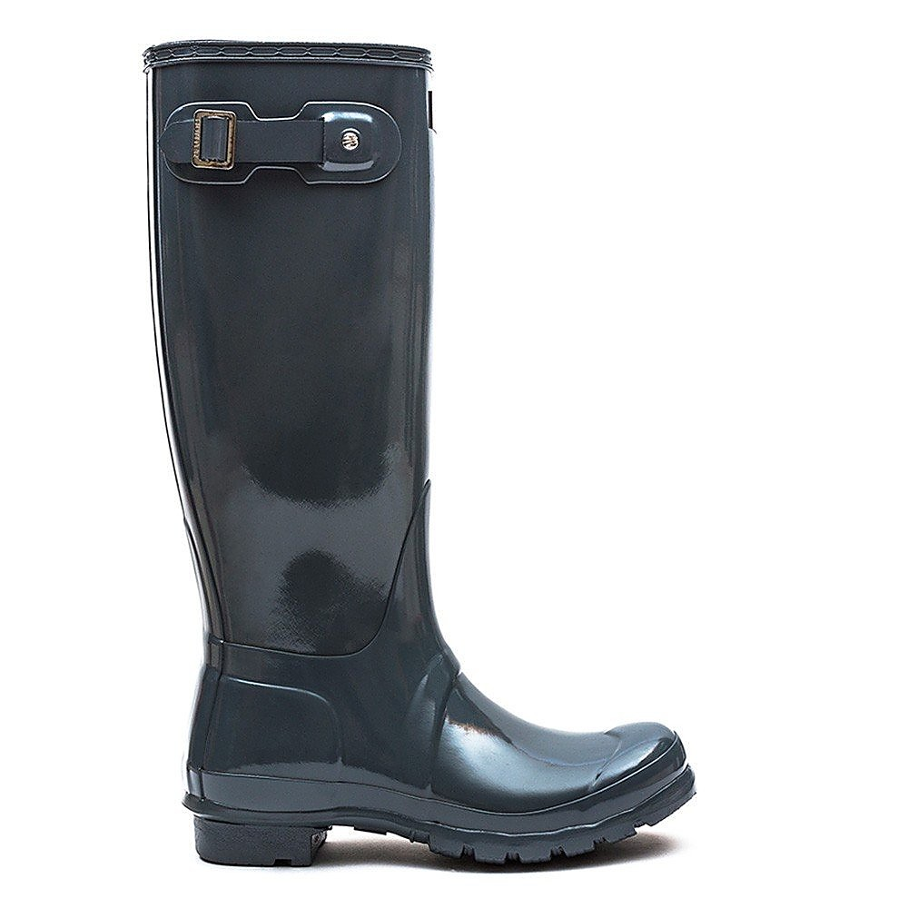 Hunter Wellies Women's Original Tall Gloss Wellington Boots - Graphite