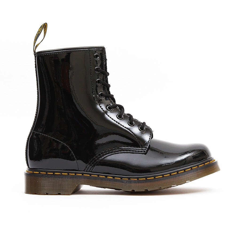 Dr Martens Women's 1460 Patent Leather High Top Boots - Black