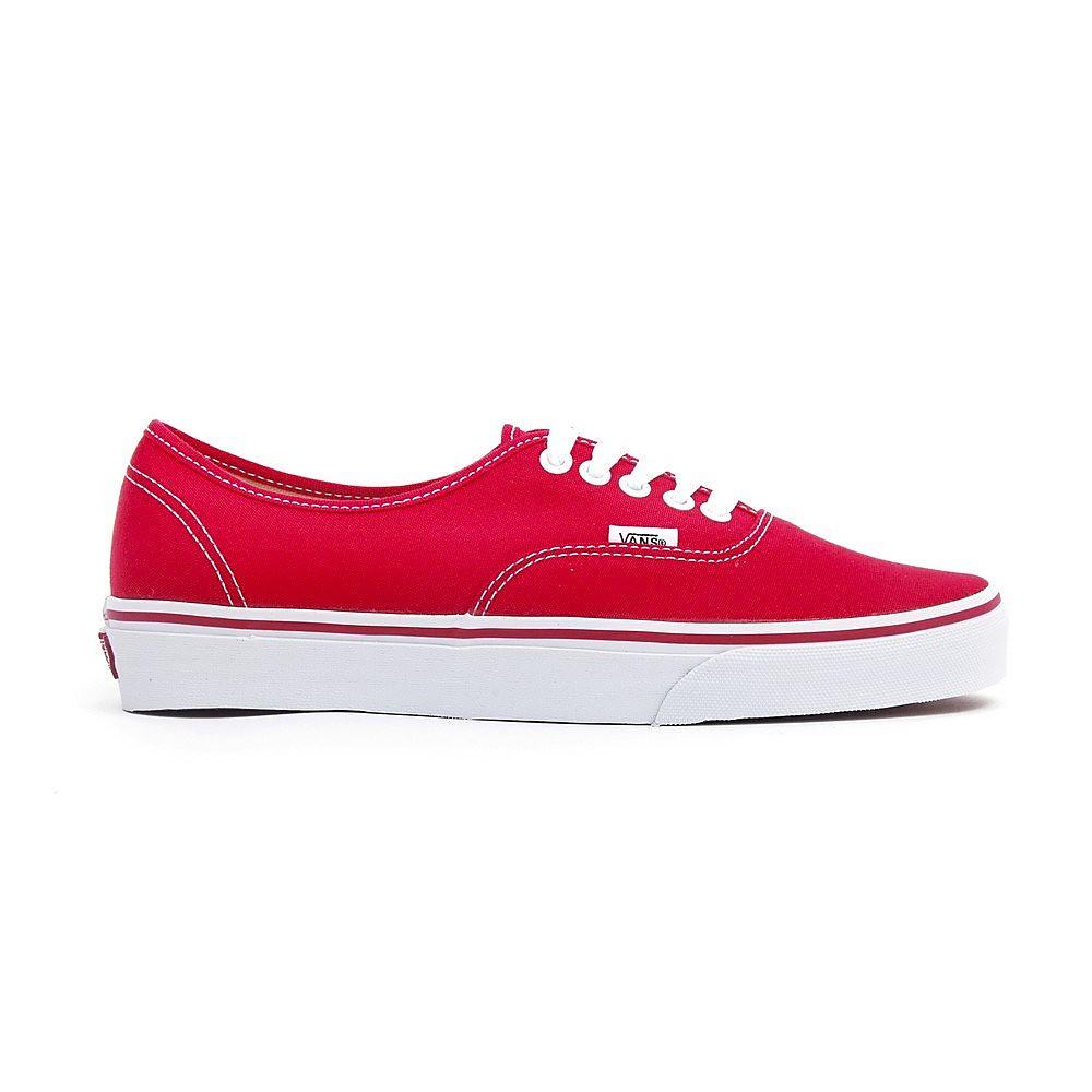 Vans Women's Vans Authentic Lace Up Trainers - Red