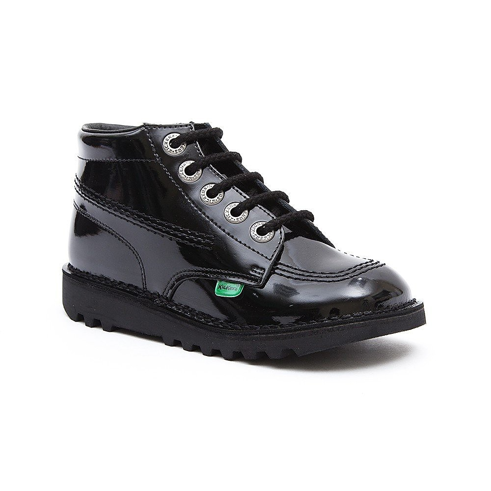 Kickers Kick Hi Kids Black