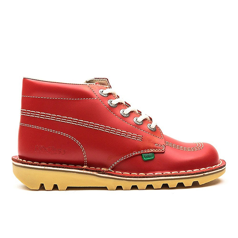 Kickers Women's Kick Hi Leather Lace-Up Boots - Red