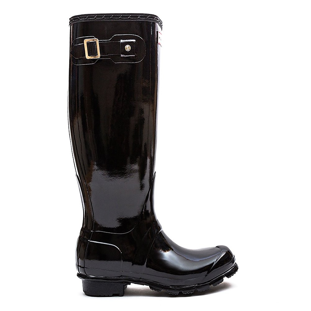 Hunter Wellies Women's Original Tall Wellington Boots - Black Gloss