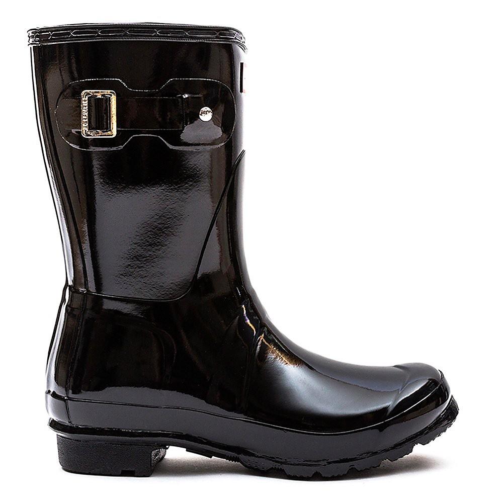 Hunter Wellies Women's Original Short Wellington Boots - Black Gloss