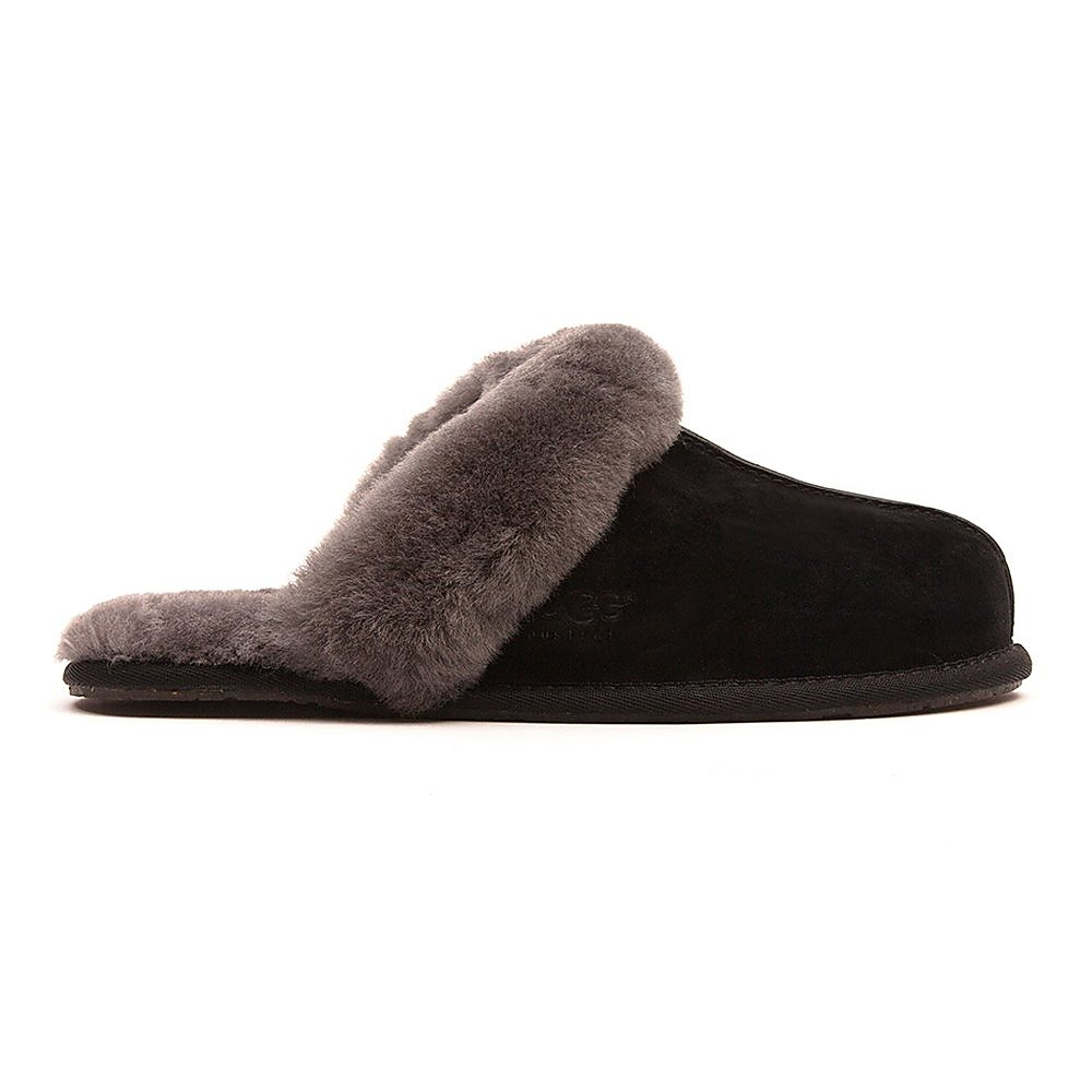 Ugg Women's Scuffette ll Sheepskin Slippers -  Black & Grey