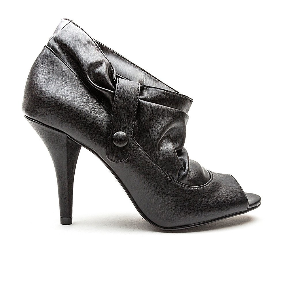 Blink Women's New Stretch Ankle High Peep Toe Heels - Black