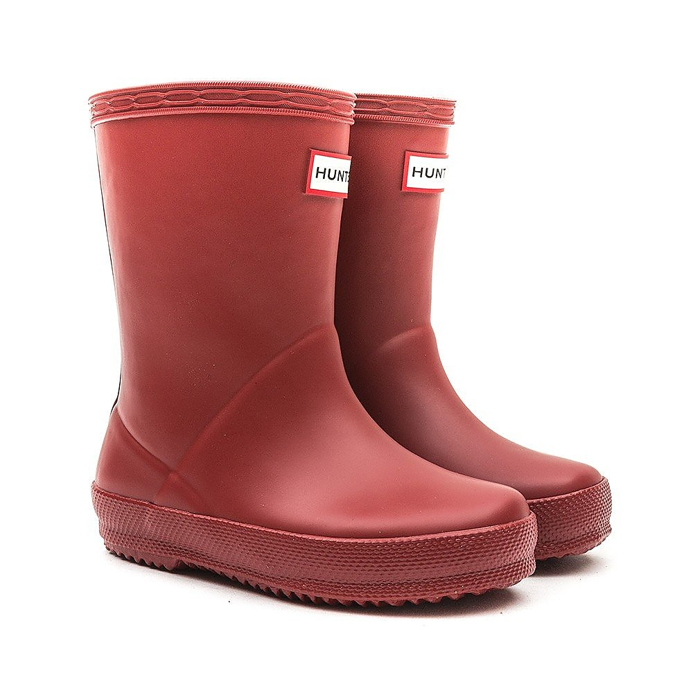 Hunter Wellies Infant First Classic Rubber Wellington Boots - Military Red