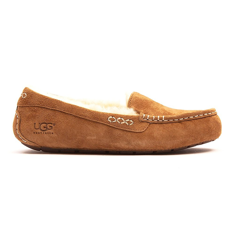 UGG Women's Ansley Sheepskin Slippers - Chestnut