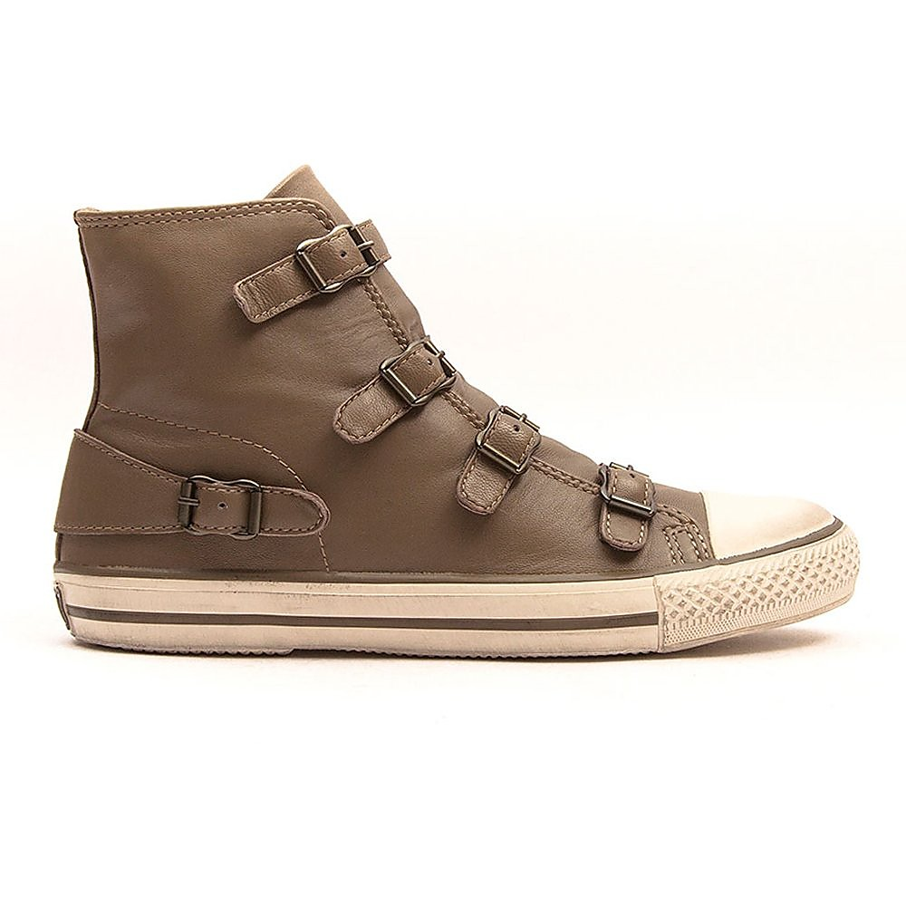 Ash Virgin Nappa Womens Perkish Nappa Wax Trainers - Brown