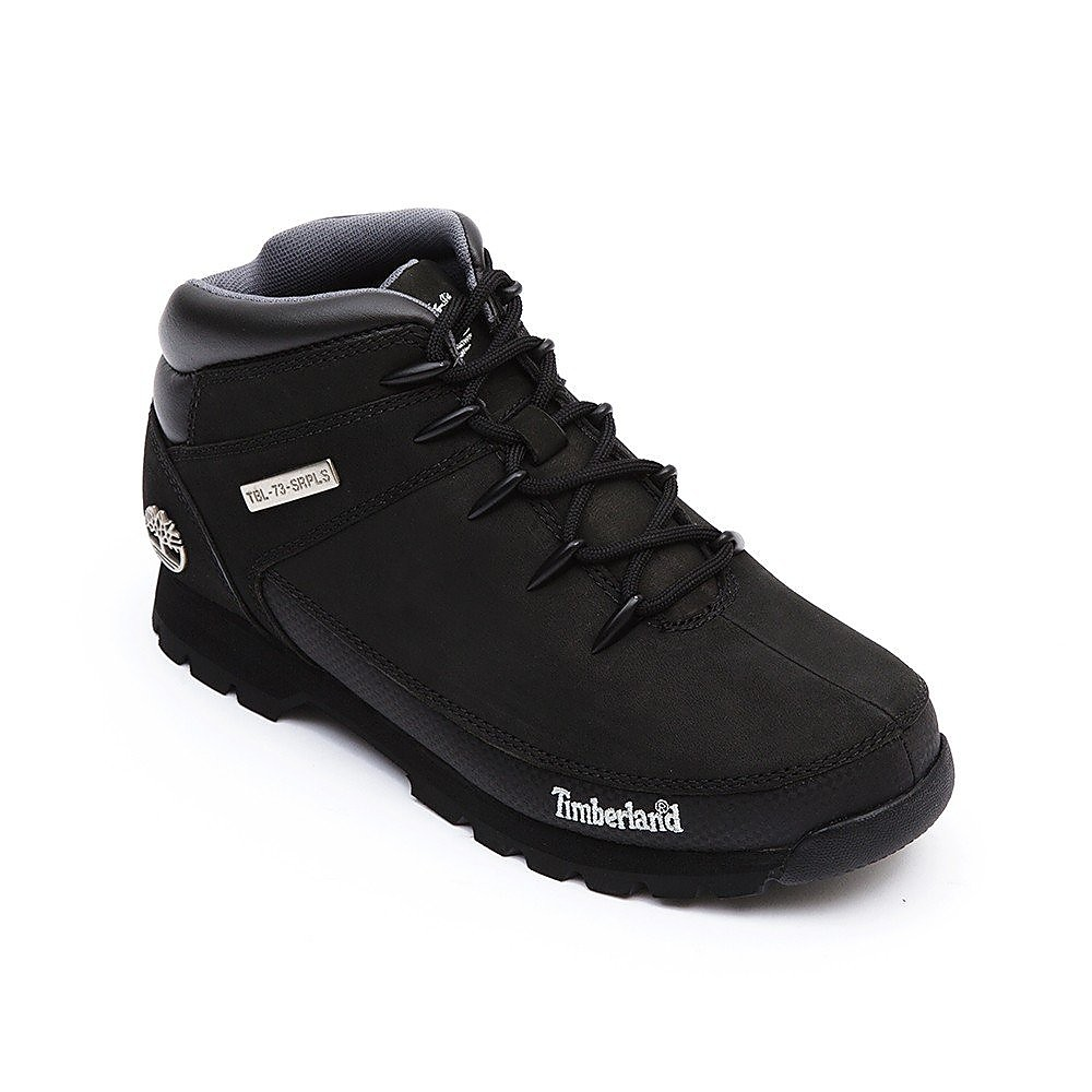 Timberland Mens Euro Sprint Hiker - Black Leather